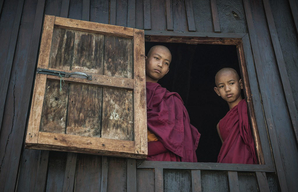 young monks...