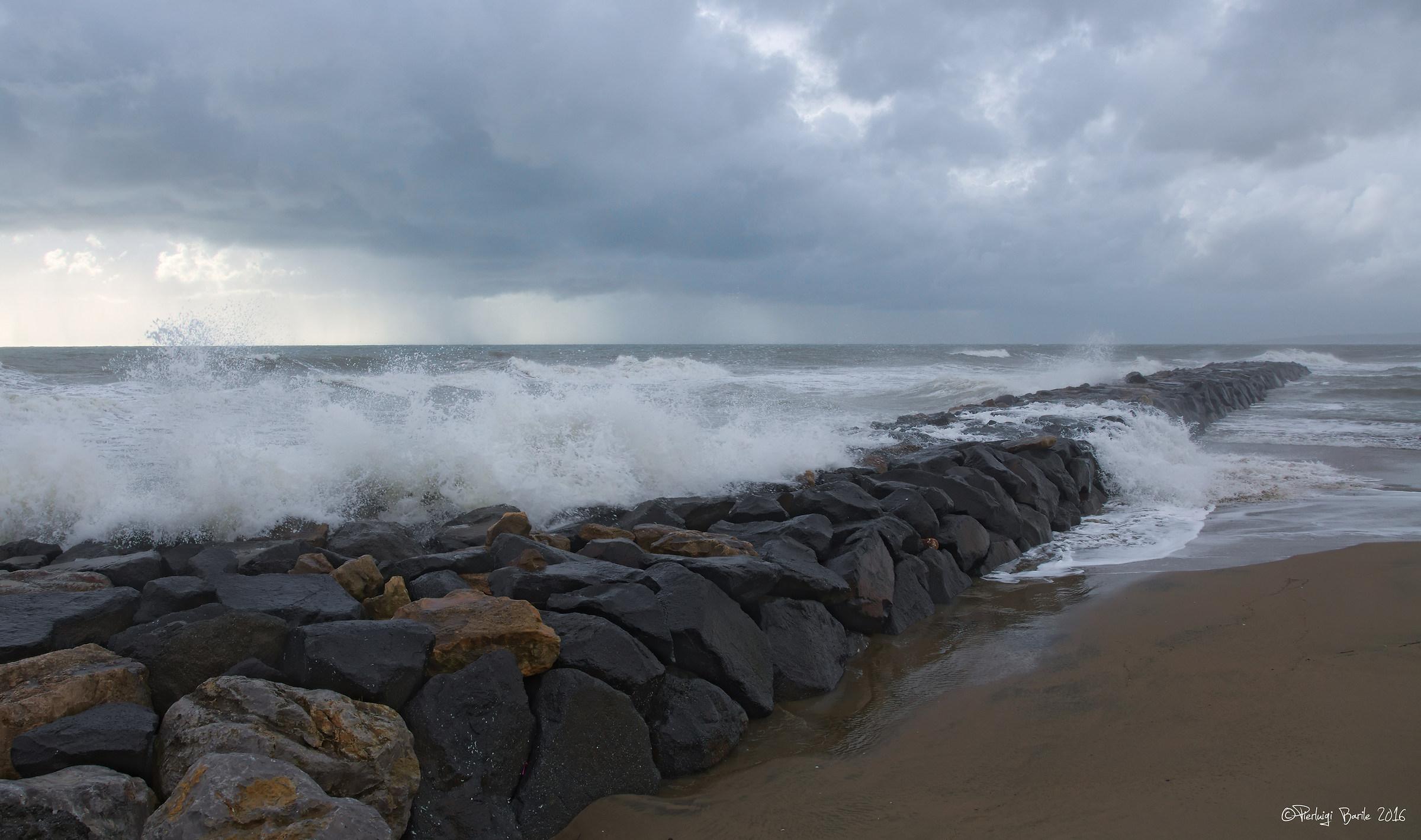 Stormy sea...