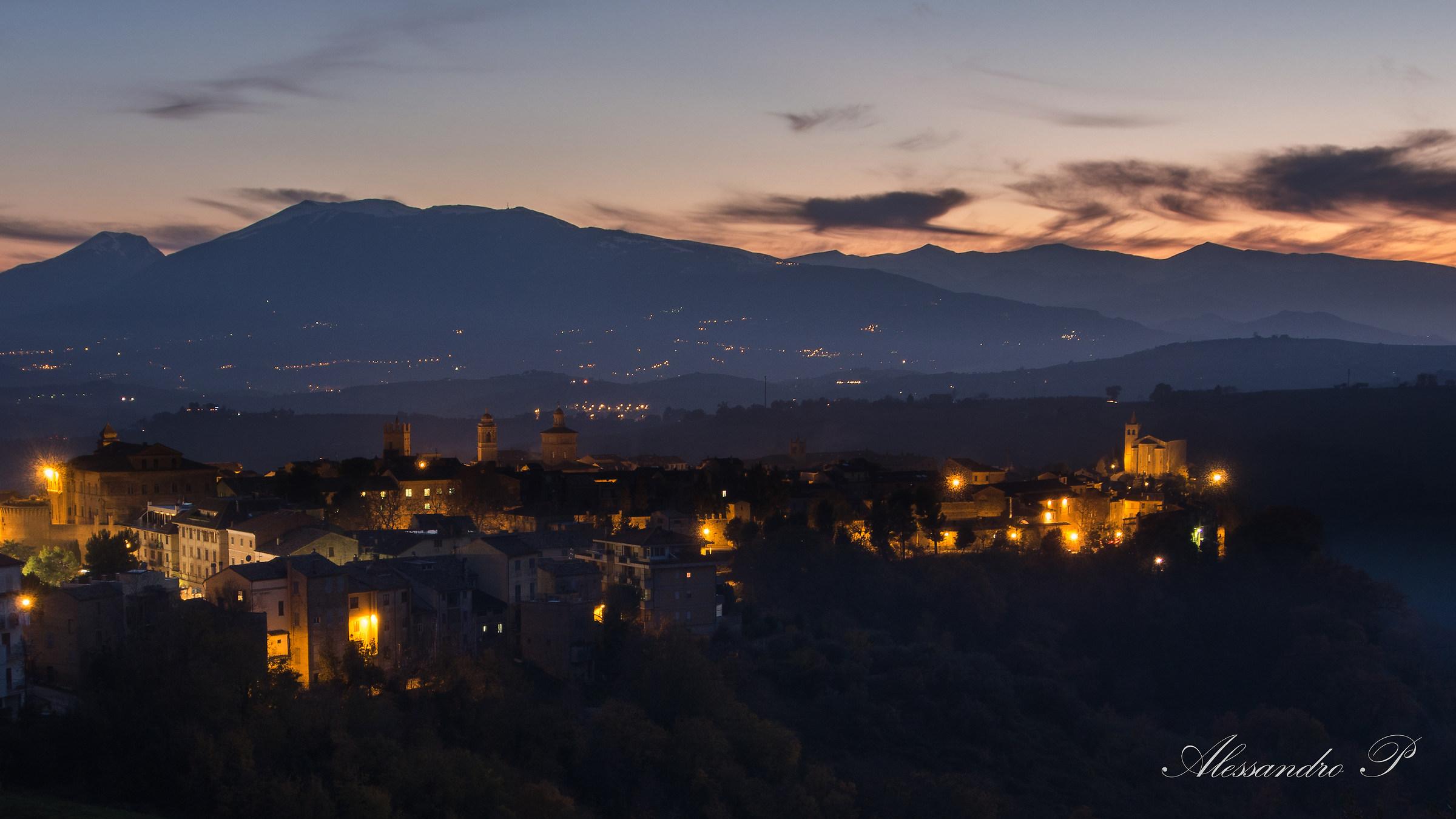 Skyline Offida, Italy...