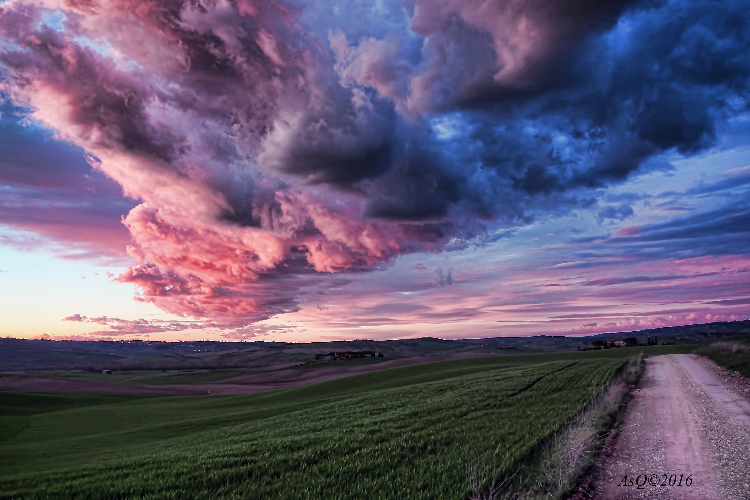 "Red Sky ""San Quirico d'Orcia""..."