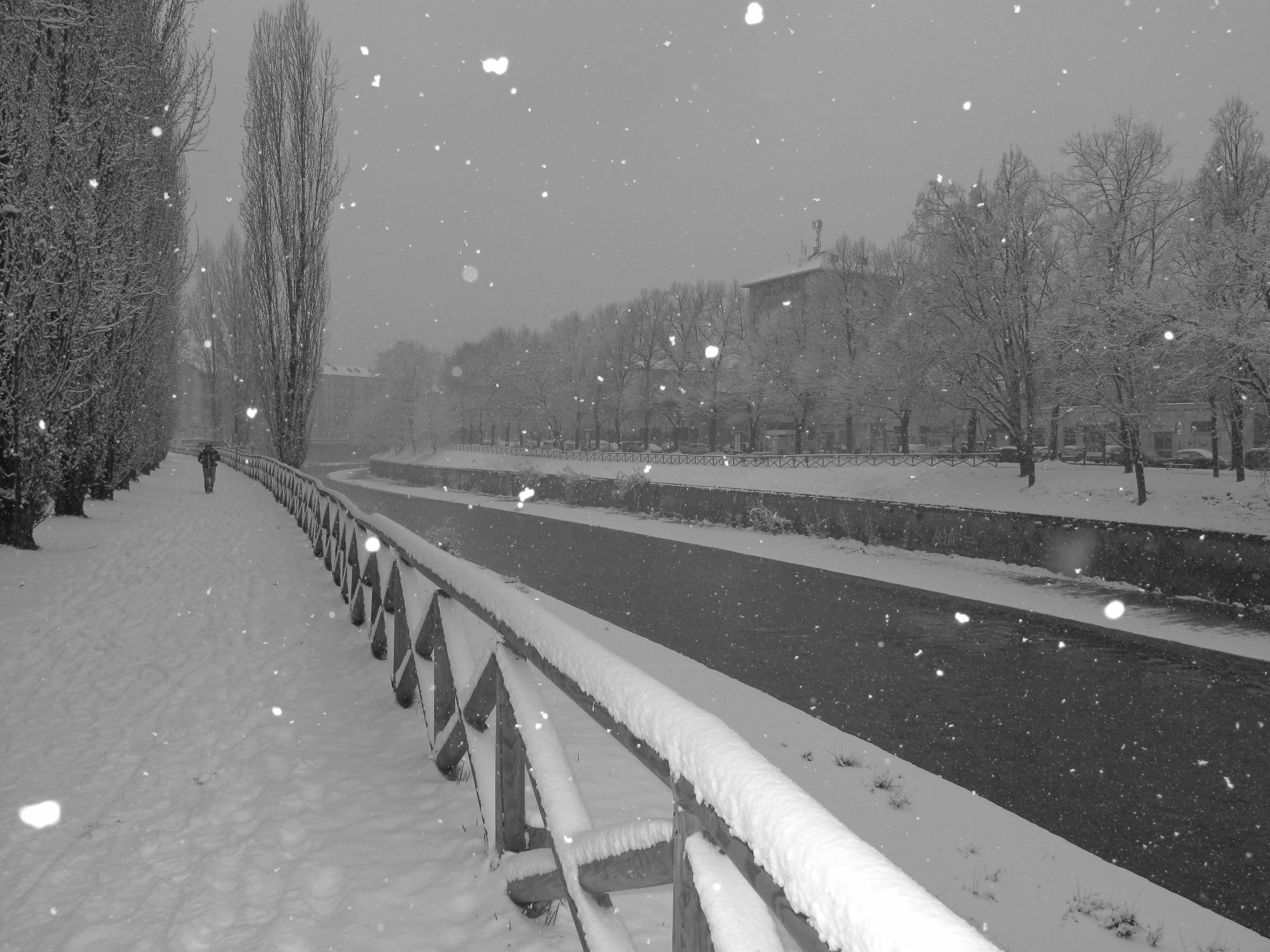 Snowfall in Turin...
