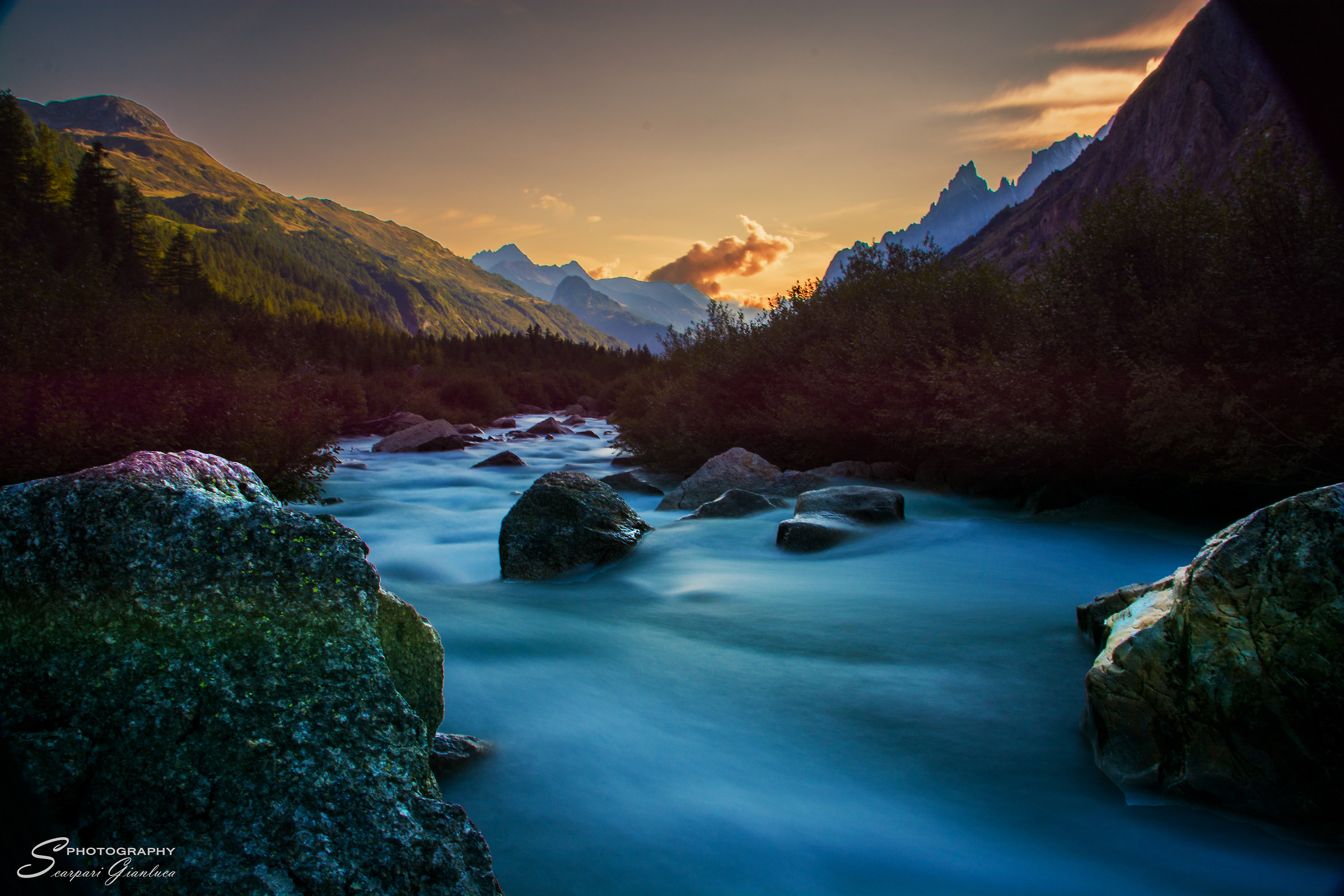 A Val Ferret by sunset...
