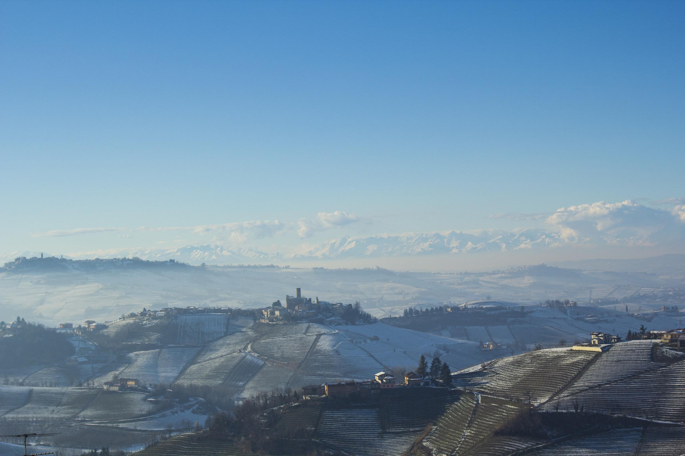 snowy Langhe...
