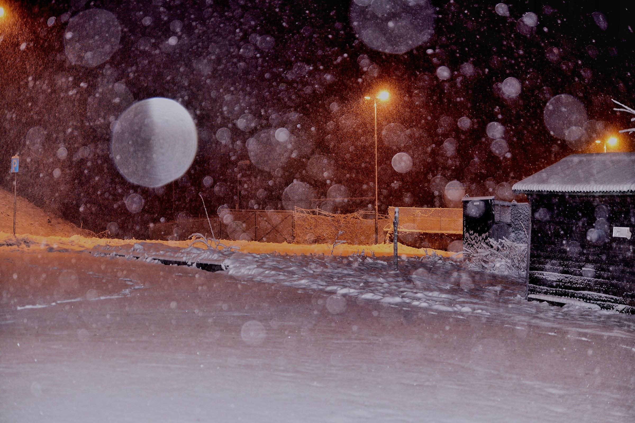 Nevicata in corso...