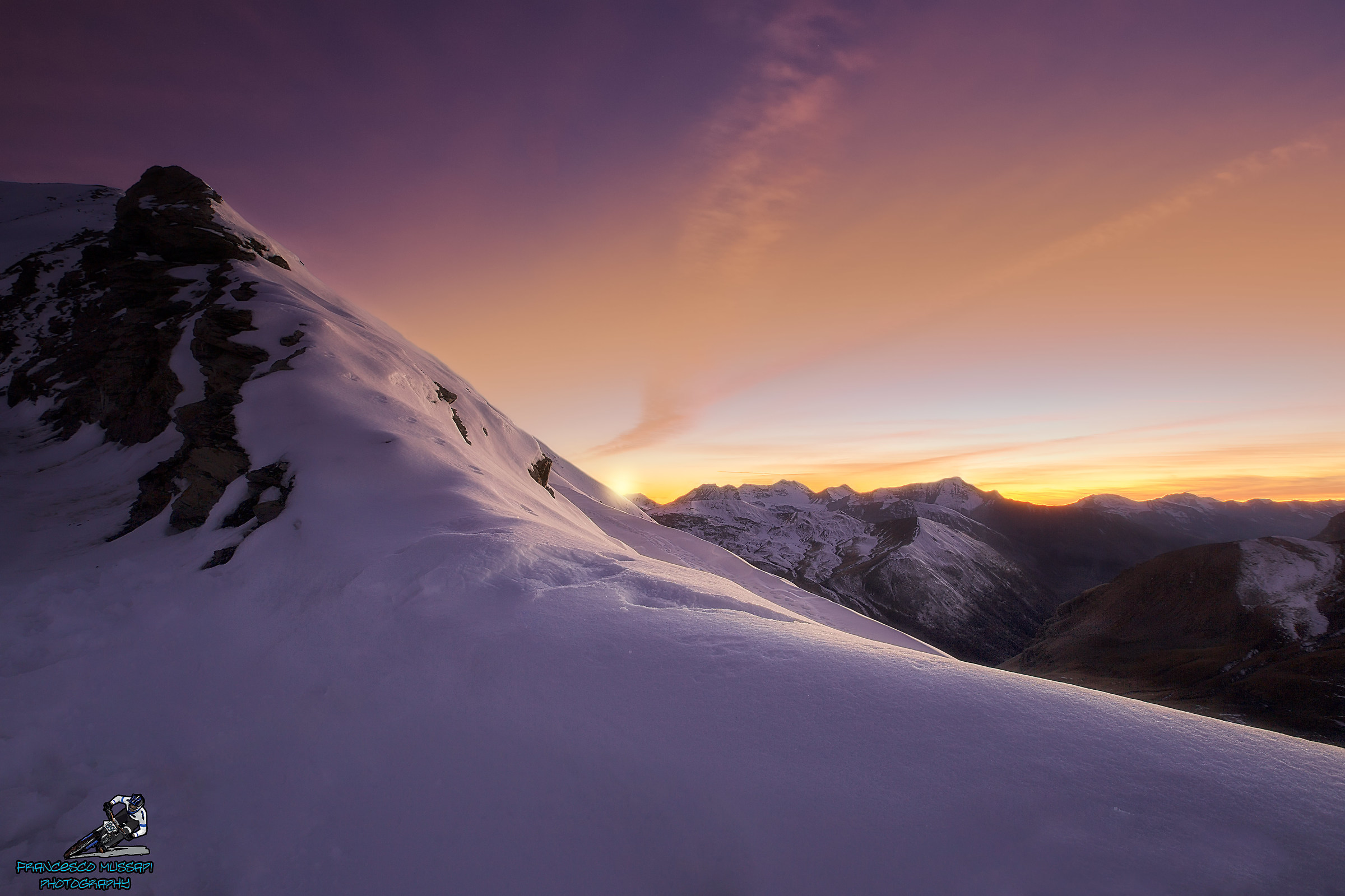 Sunset on the Bonette...
