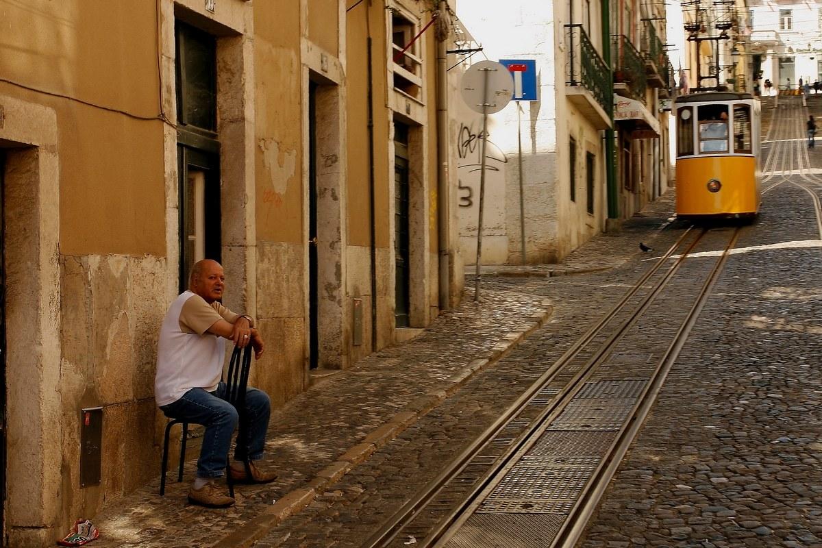 The Lisbon man...