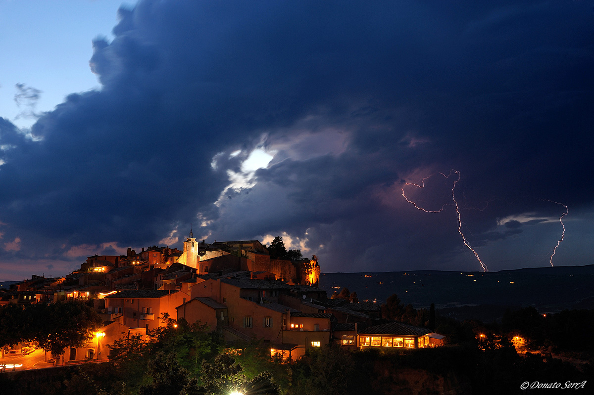 Thunderstorms in the Luberon...