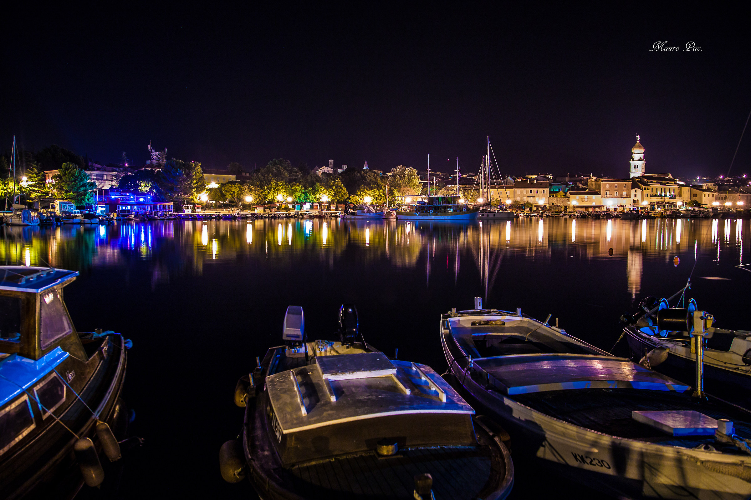 Island of Krk by night...