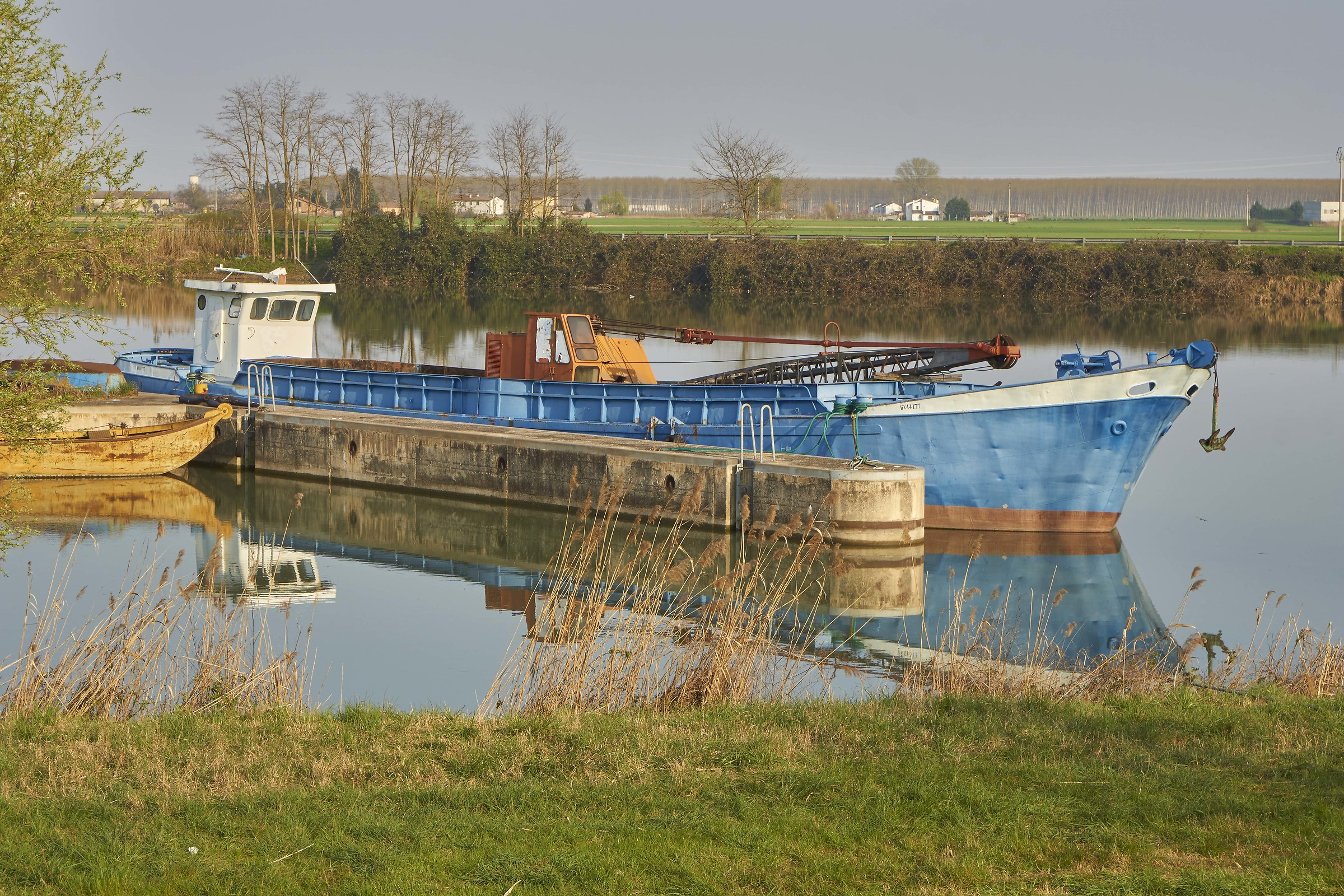 The barge at lock...