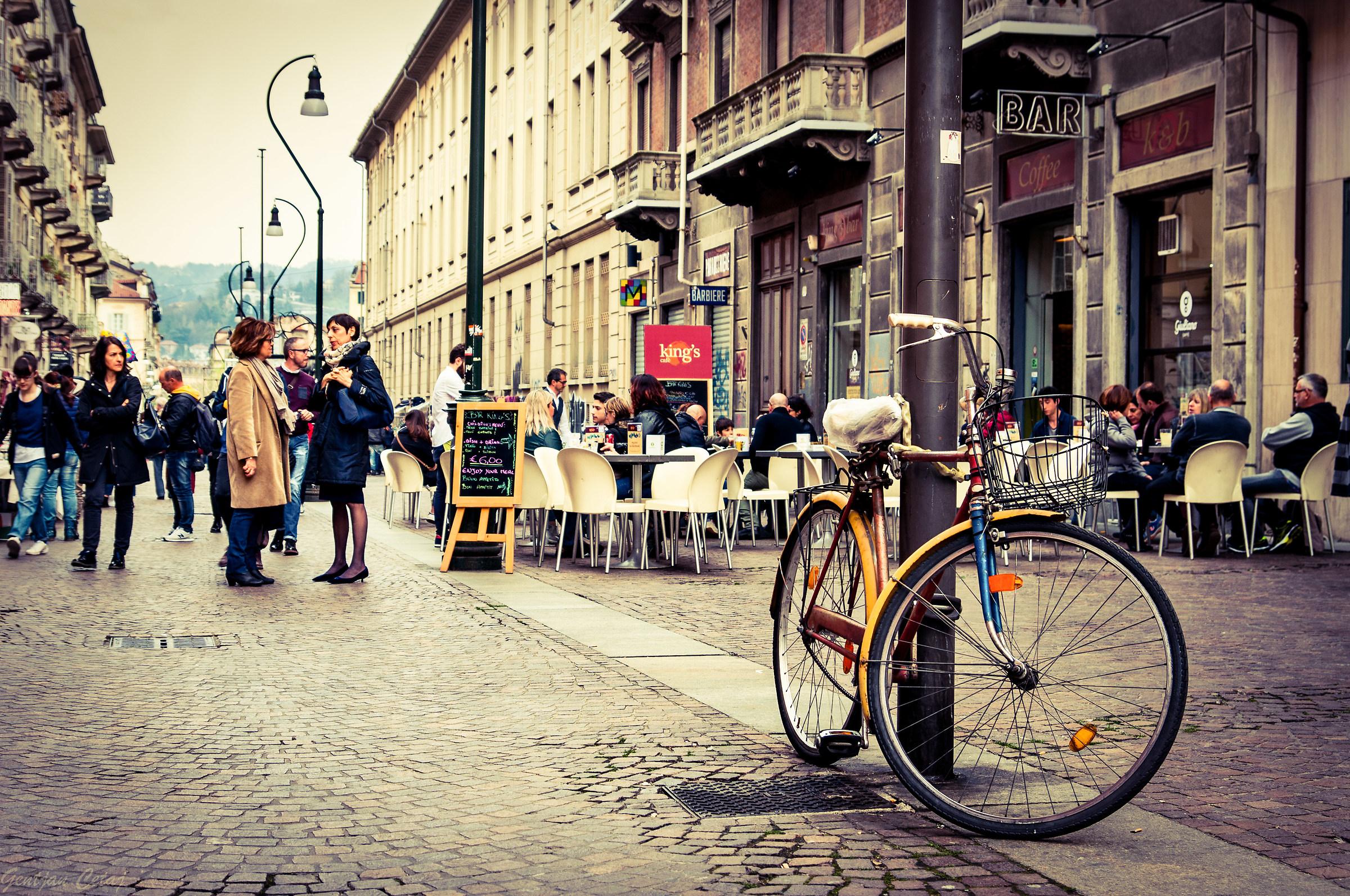 City scene, Turin....