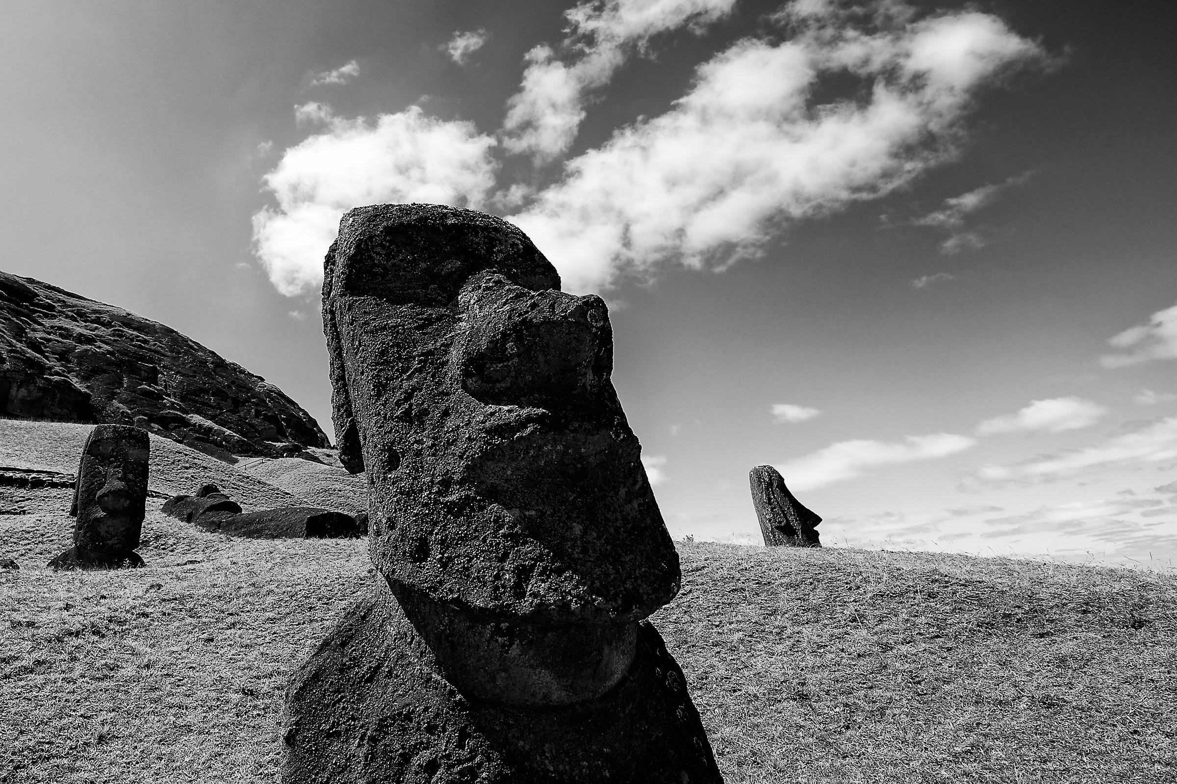 Moai volcano...