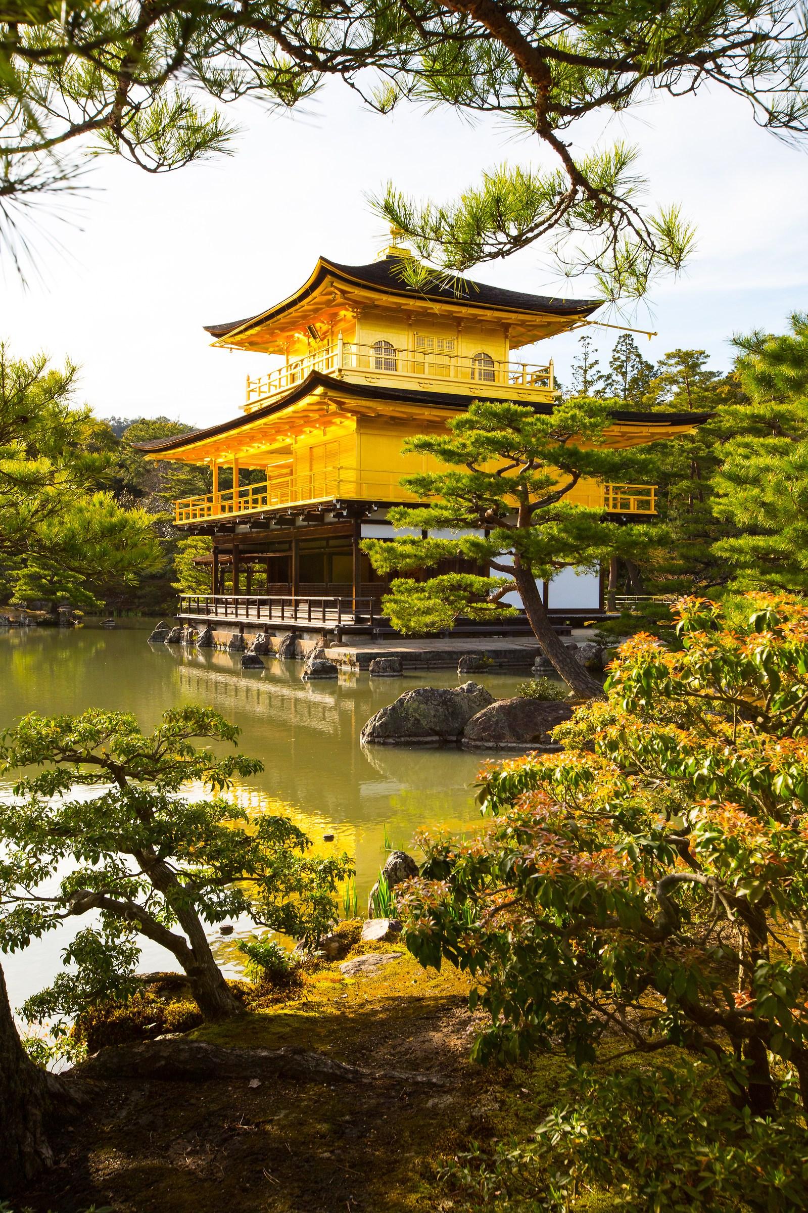 Kinkaku-ji di Kyoto...
