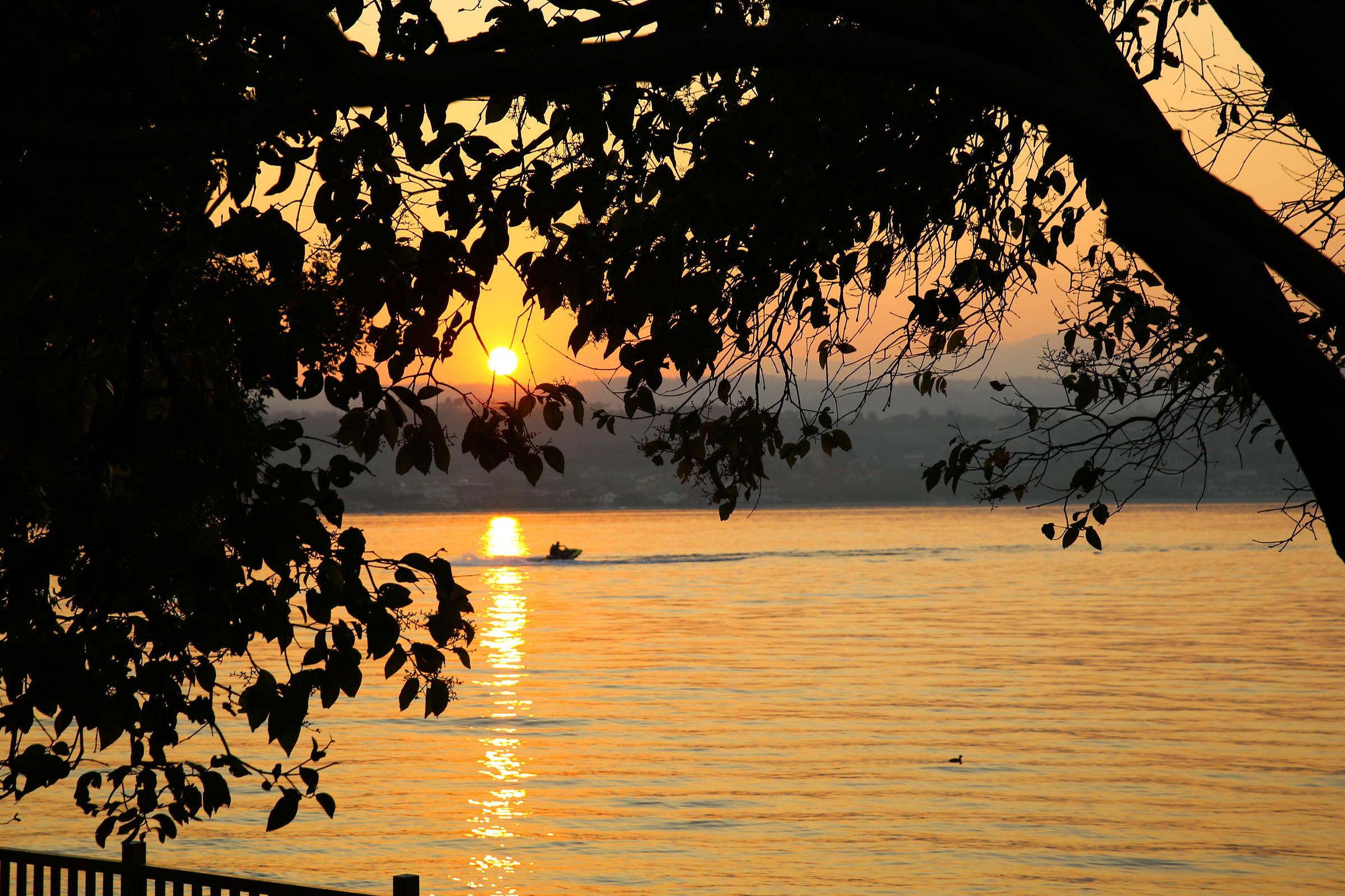 sunset on Lake Garda...
