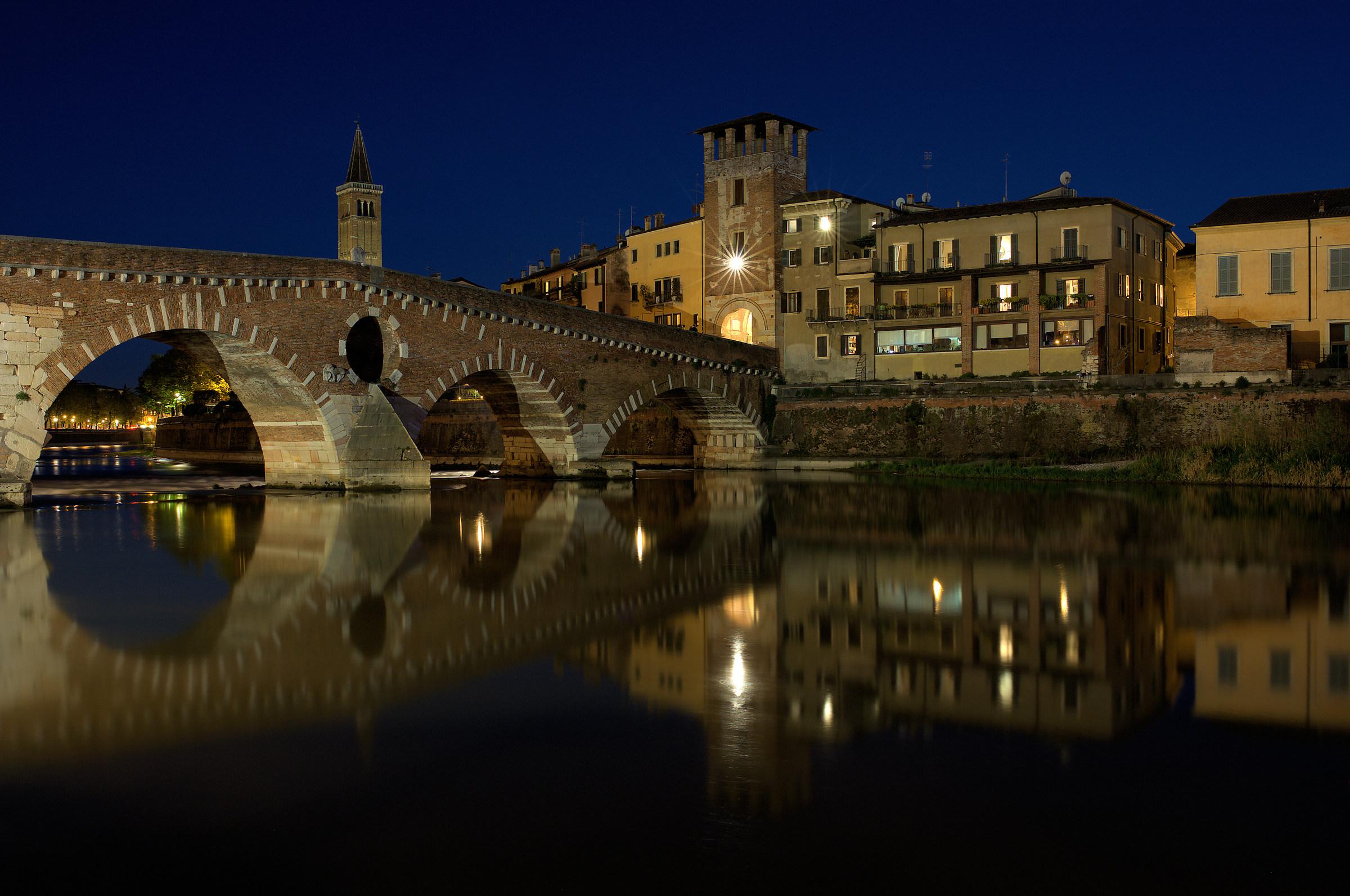 Night stone bridge...
