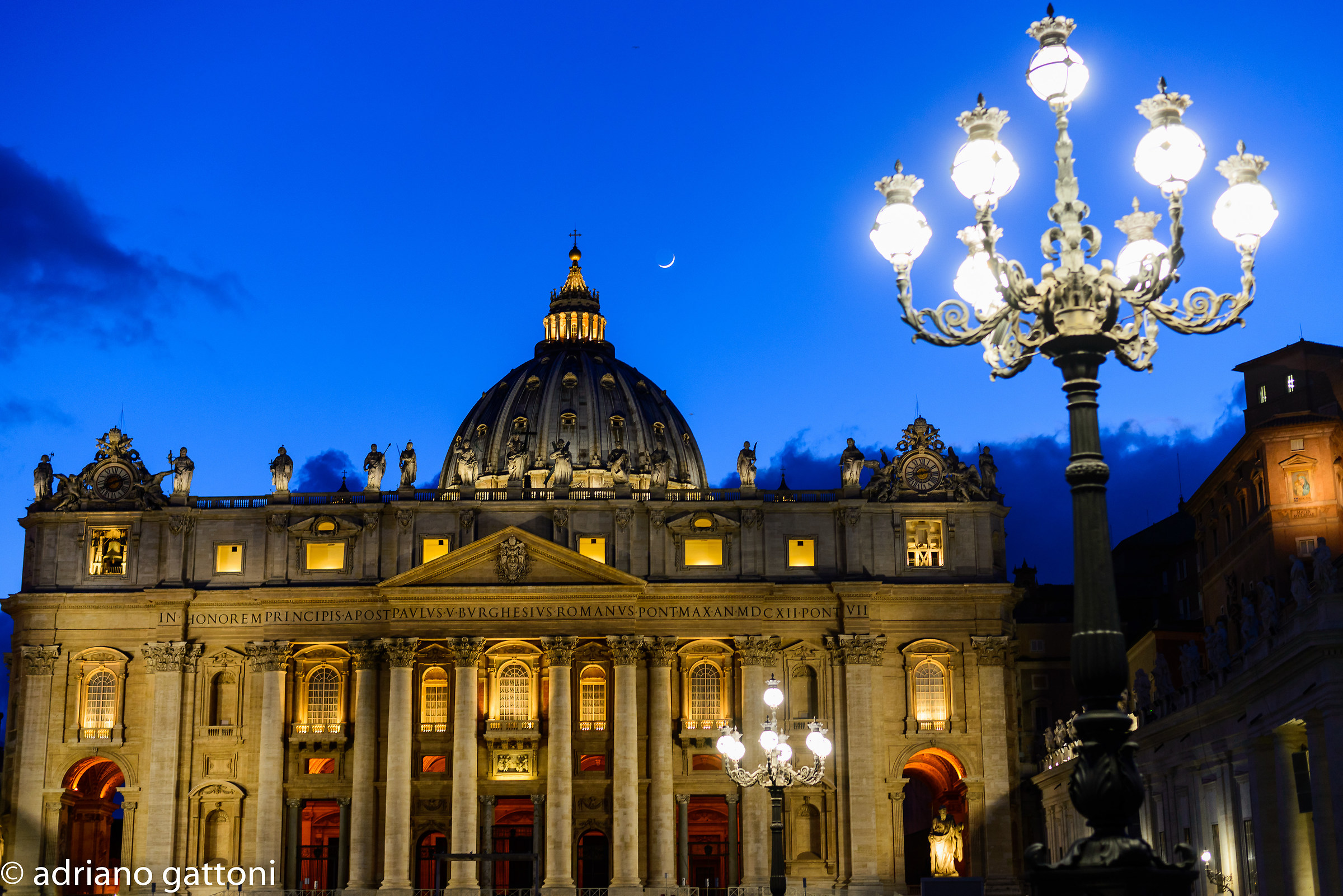San Pietro ... and the moon...
