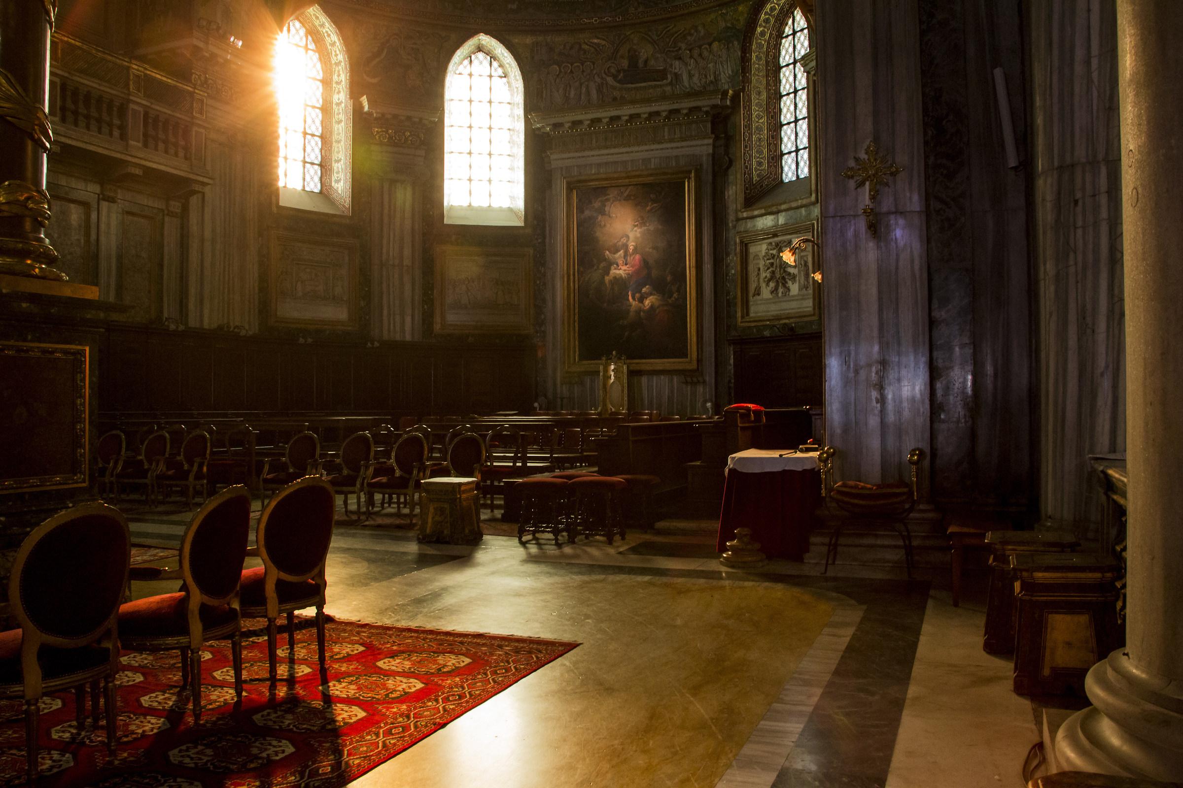 the basilica...