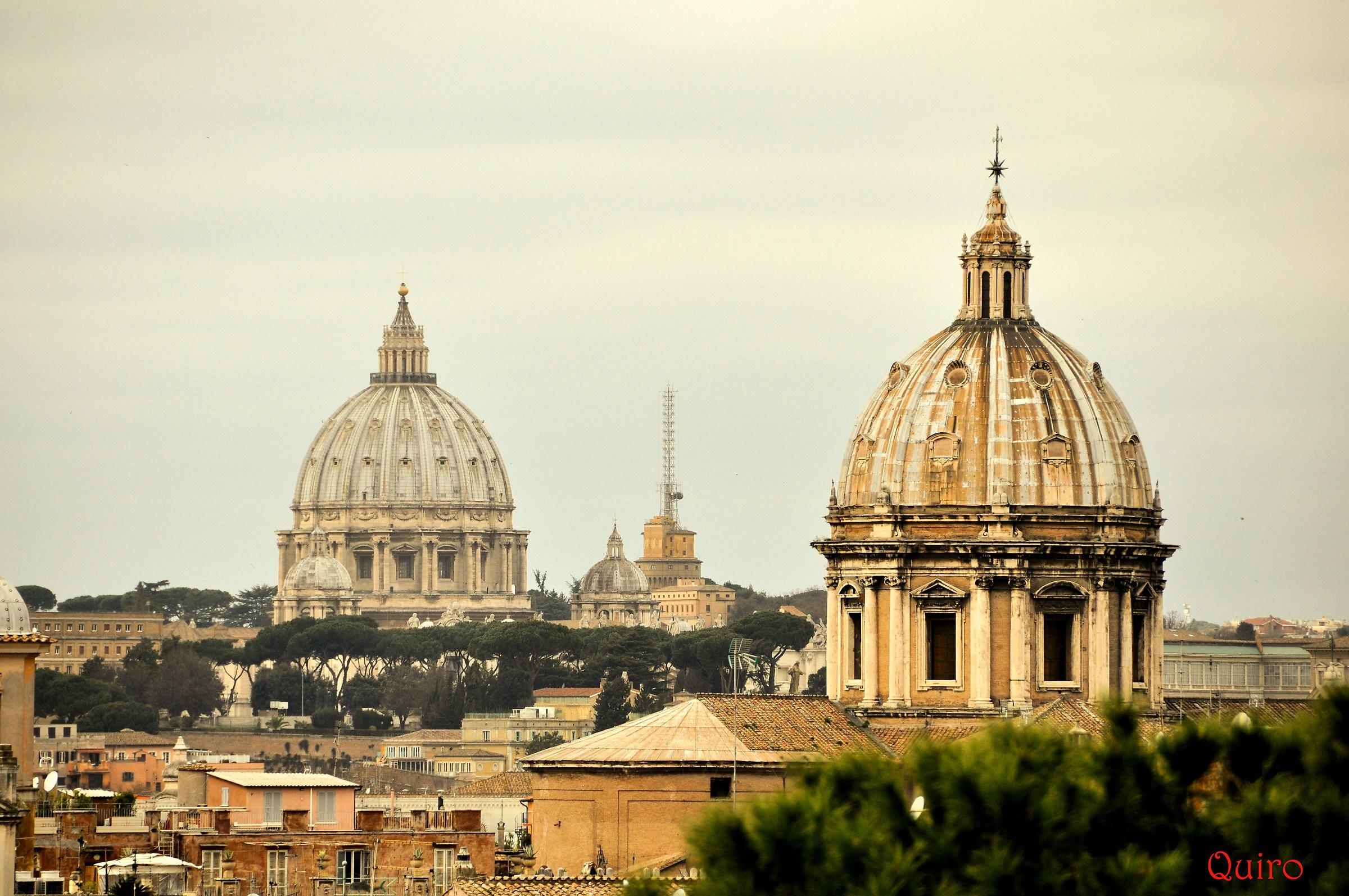Il Vaticano visto dal Campidoglio...