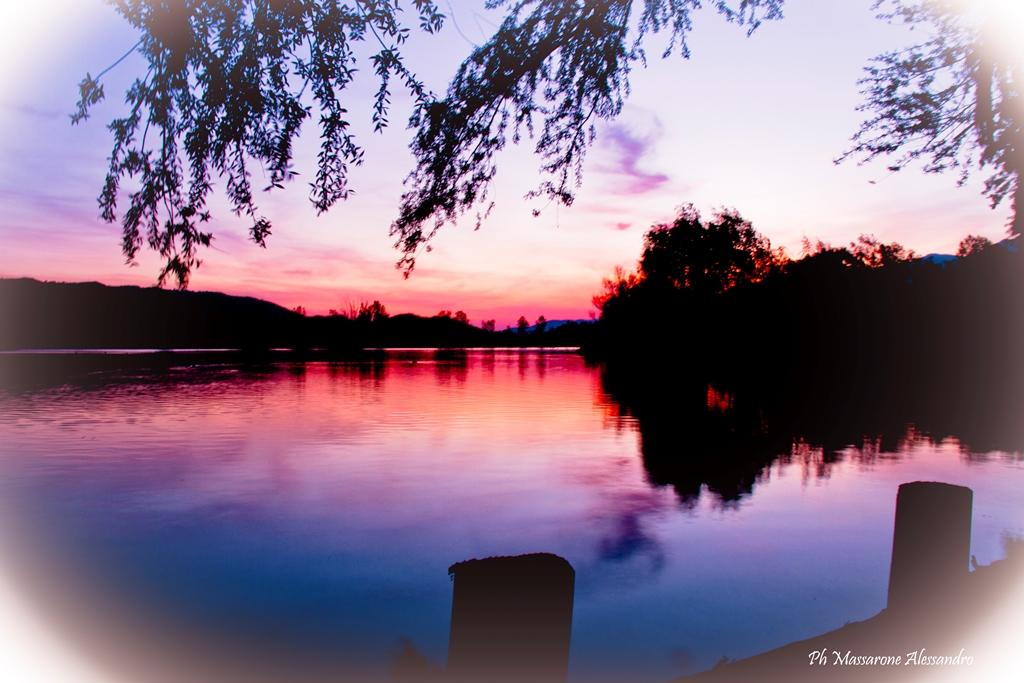 Sunset on Lake Posta Fibreno...