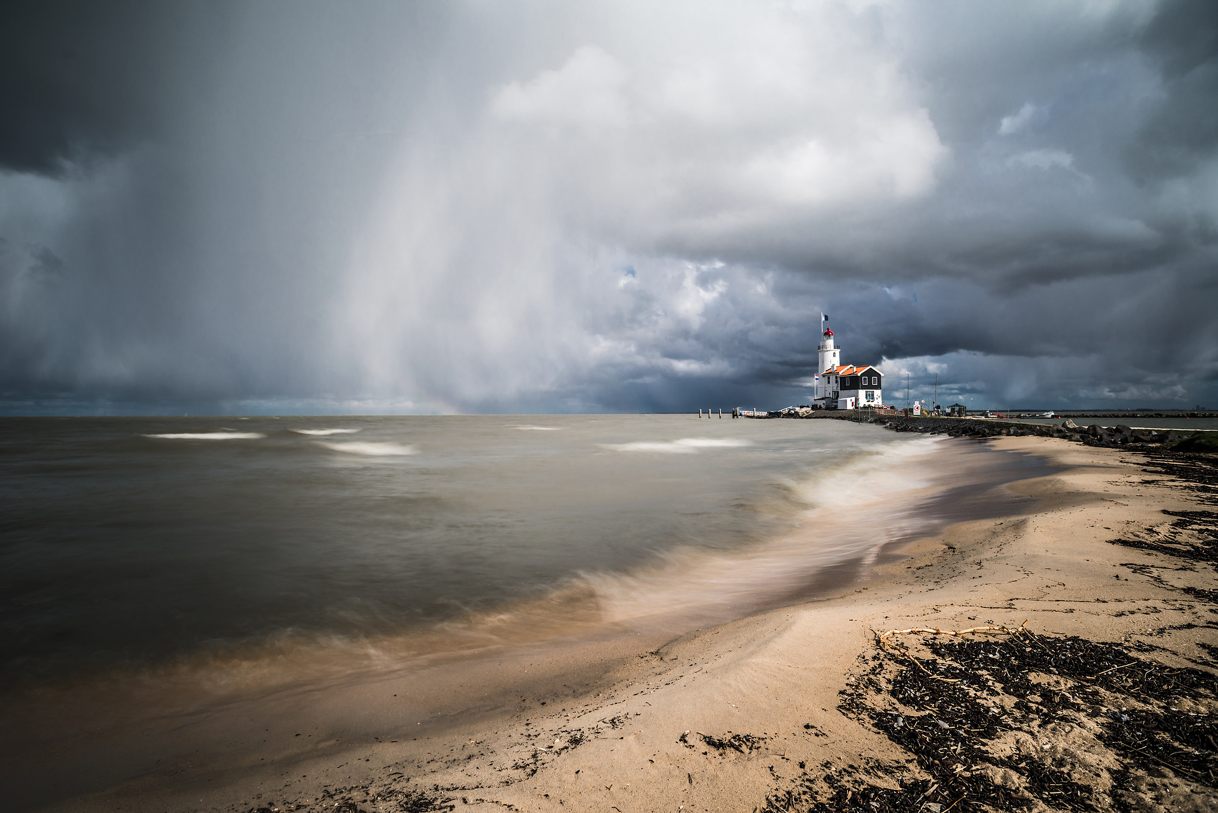 the brown lighthouse...