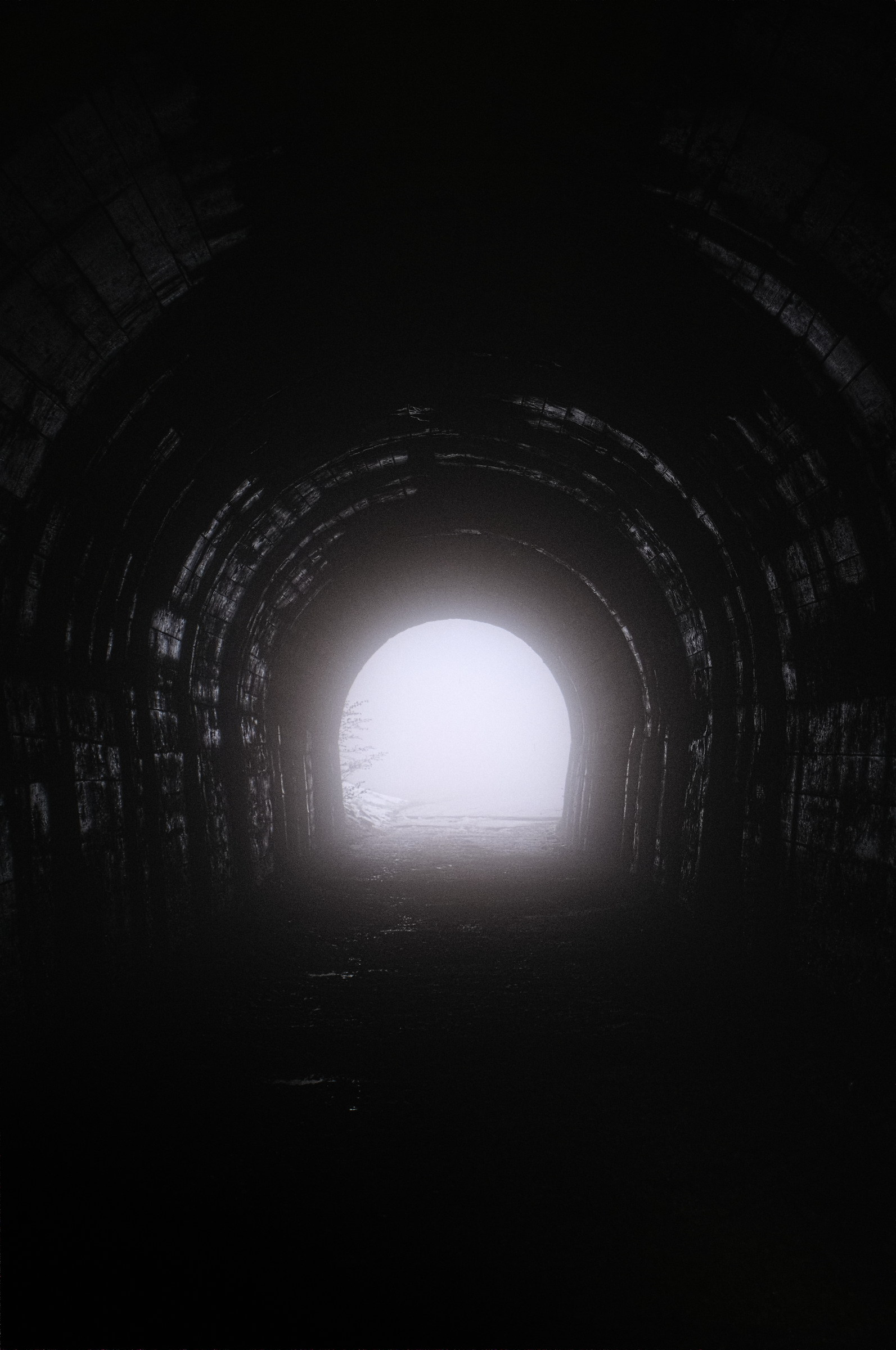 tunnel with fog...