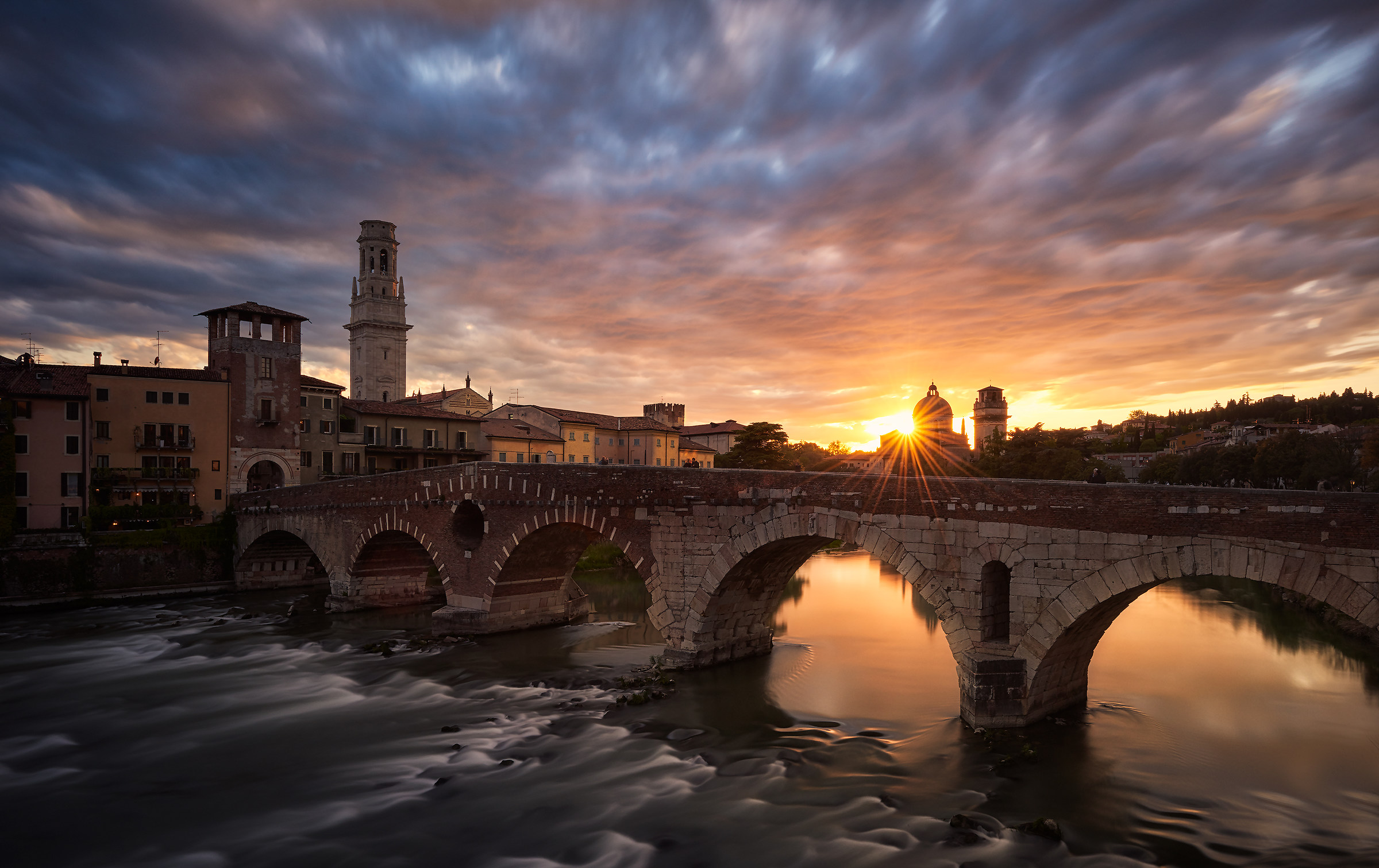 Verona - View from stone bridge...