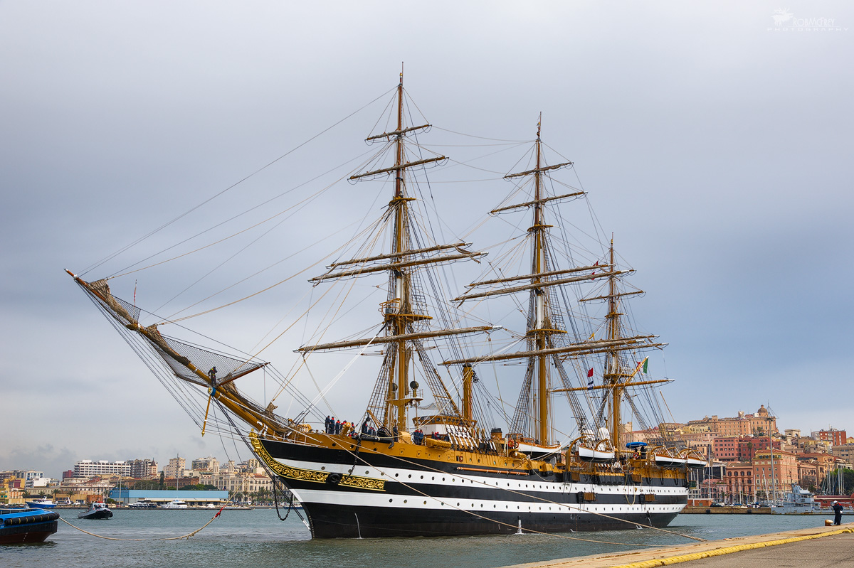 Amerigo Vespucci in the harbor - Cagliari...