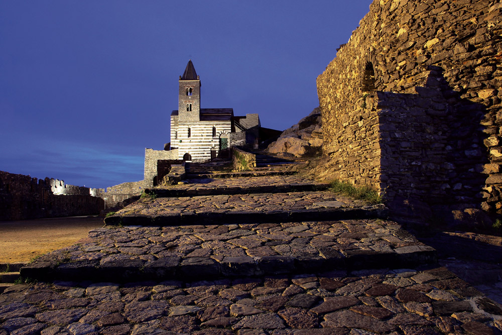 The superb church of St. Peter in Portovenere...