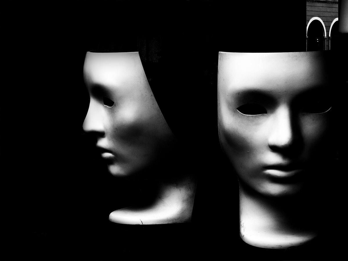 The masks...