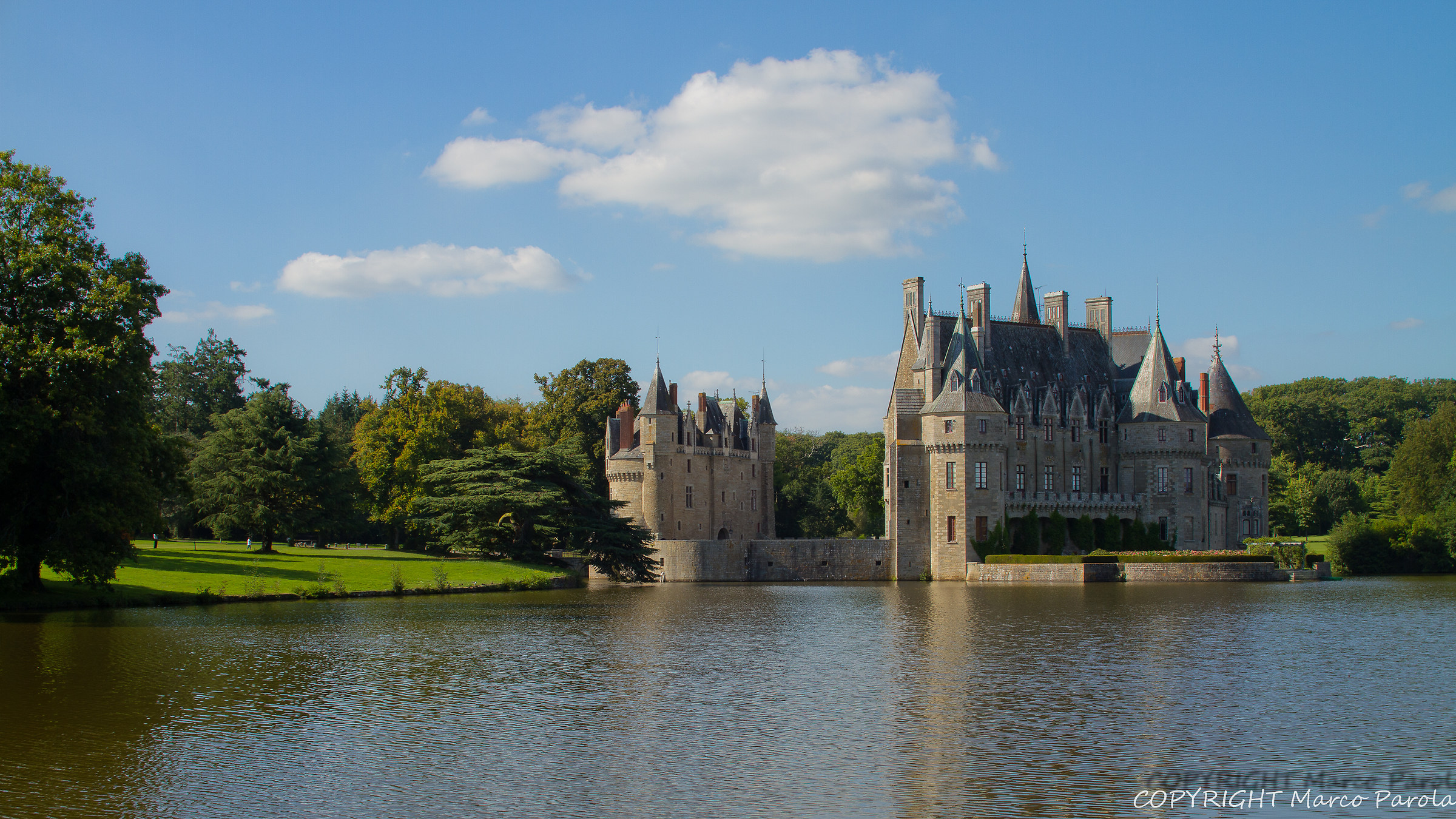 Lake and castle...