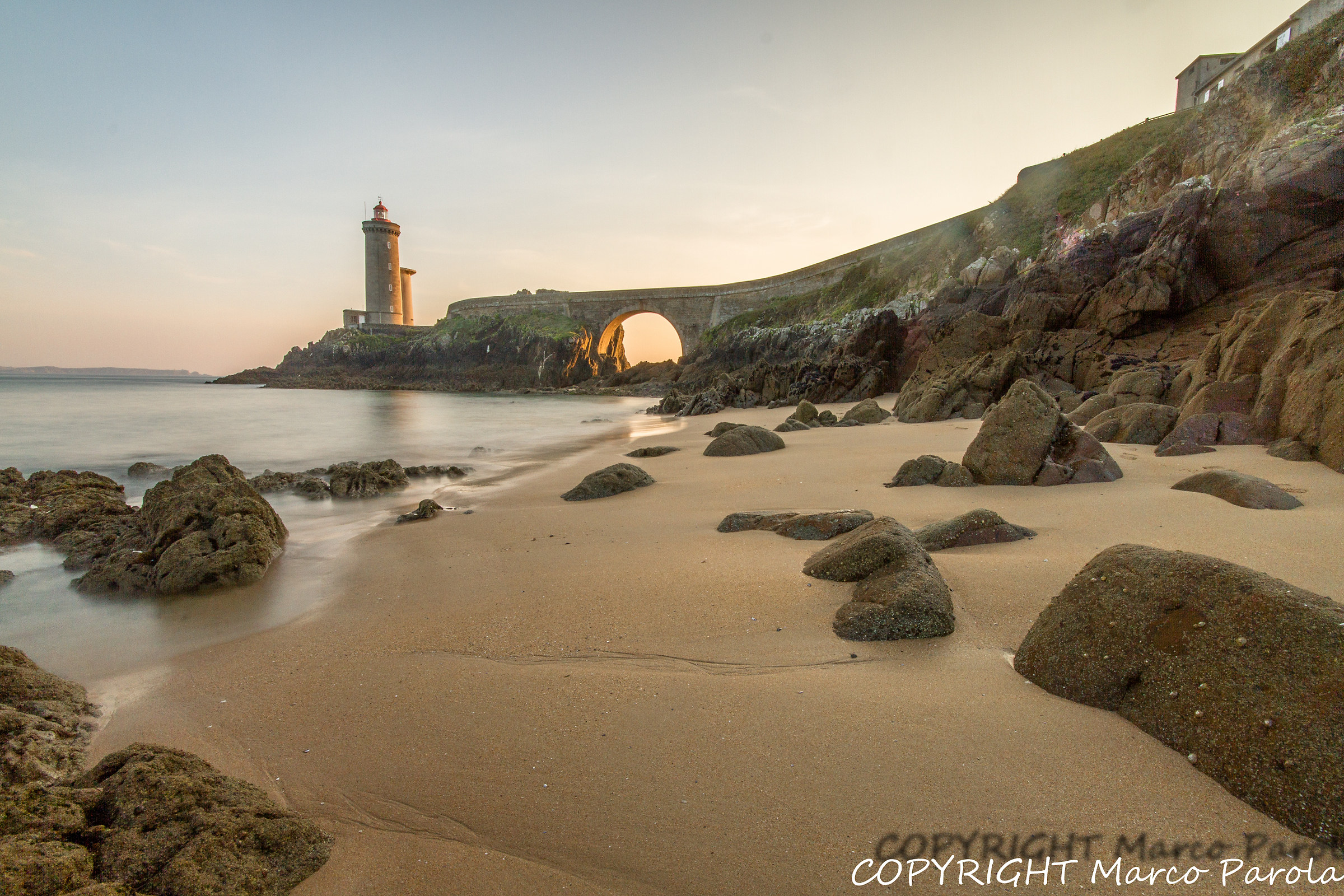 The beach and the lighthouse...