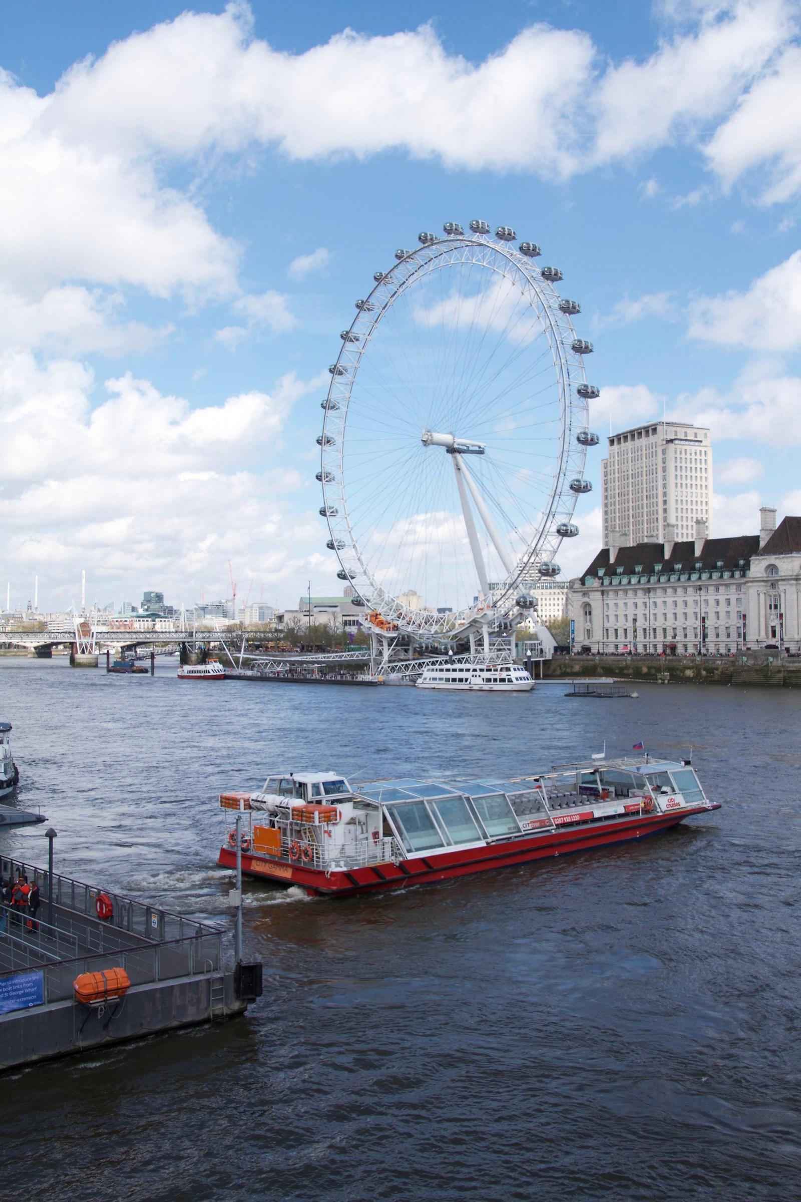 London Eye - Vista dal ponte di Westminster...