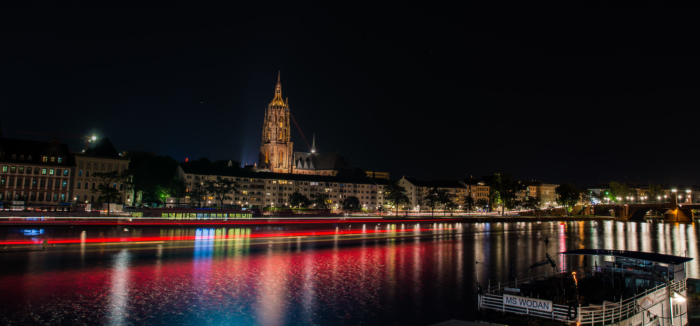 Night view of the Cathedral of Frankfurt...