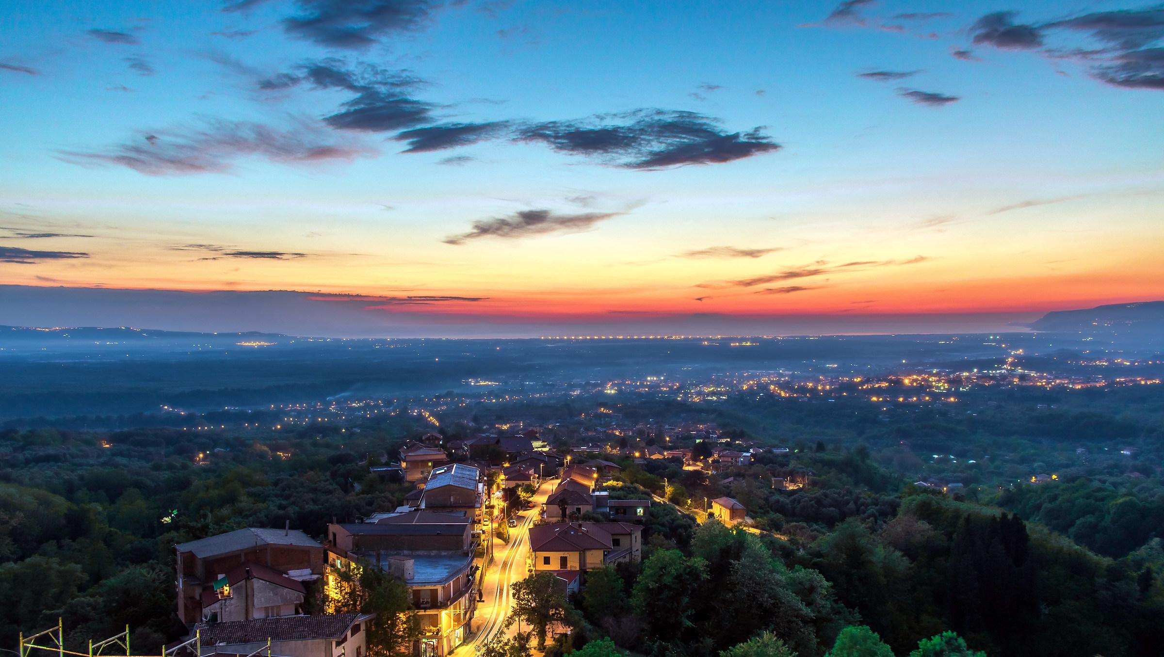 La Piana di Gioia Tauro vista da San Giorgio Morgeto...