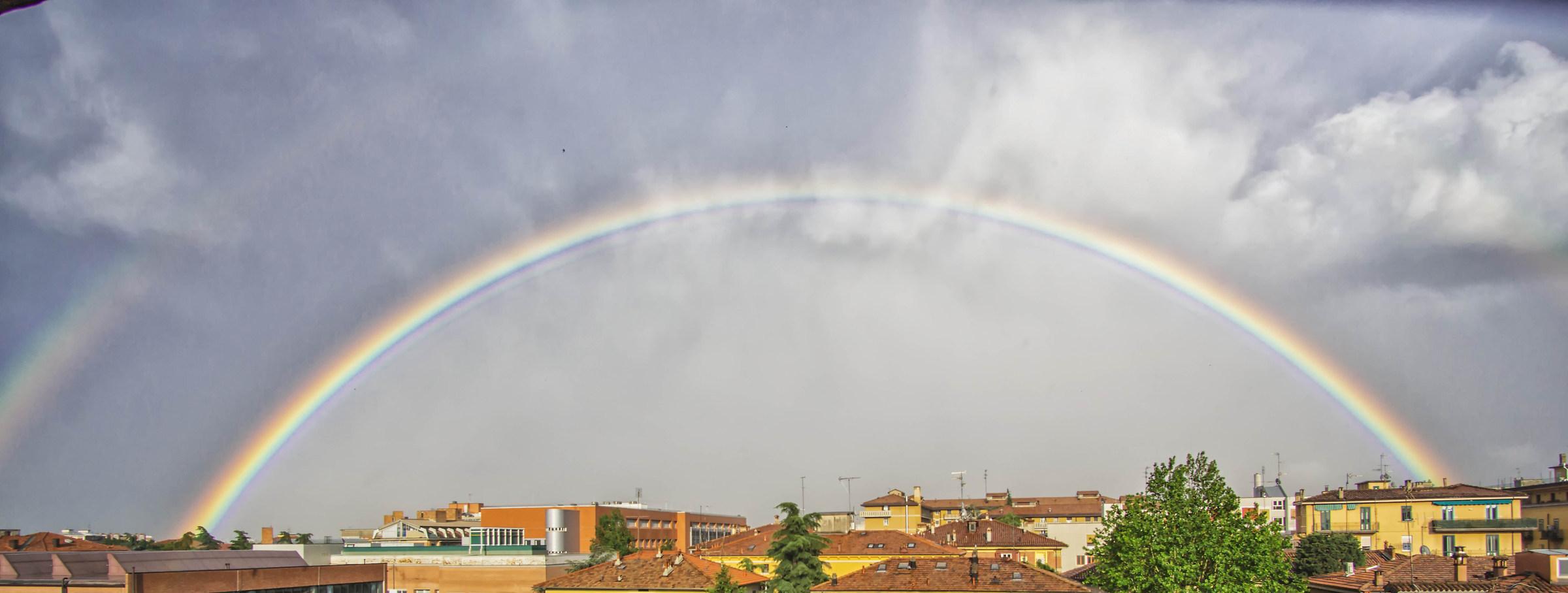 Below the rainbow...