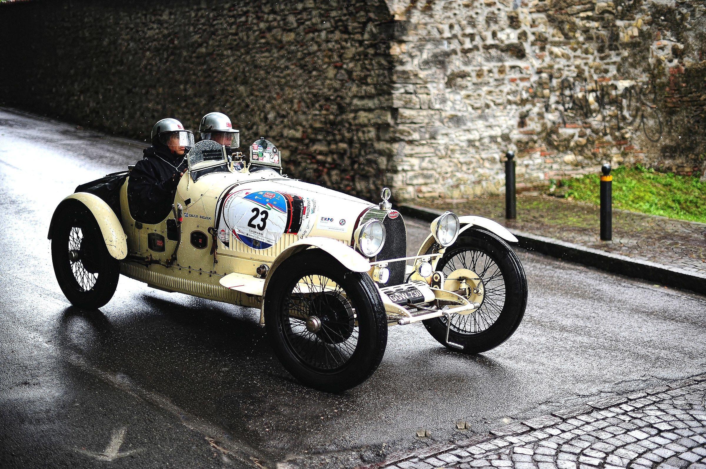 the Bugatti...