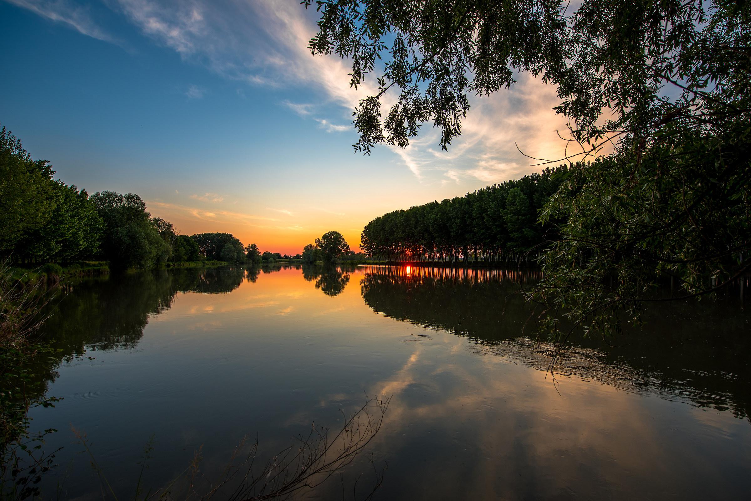 Sunset on the River Oglio...