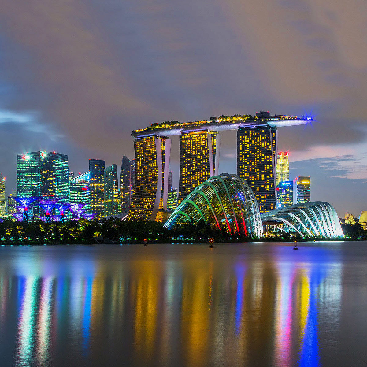 Singapore Cloud Forest Flower Dome & Marina...