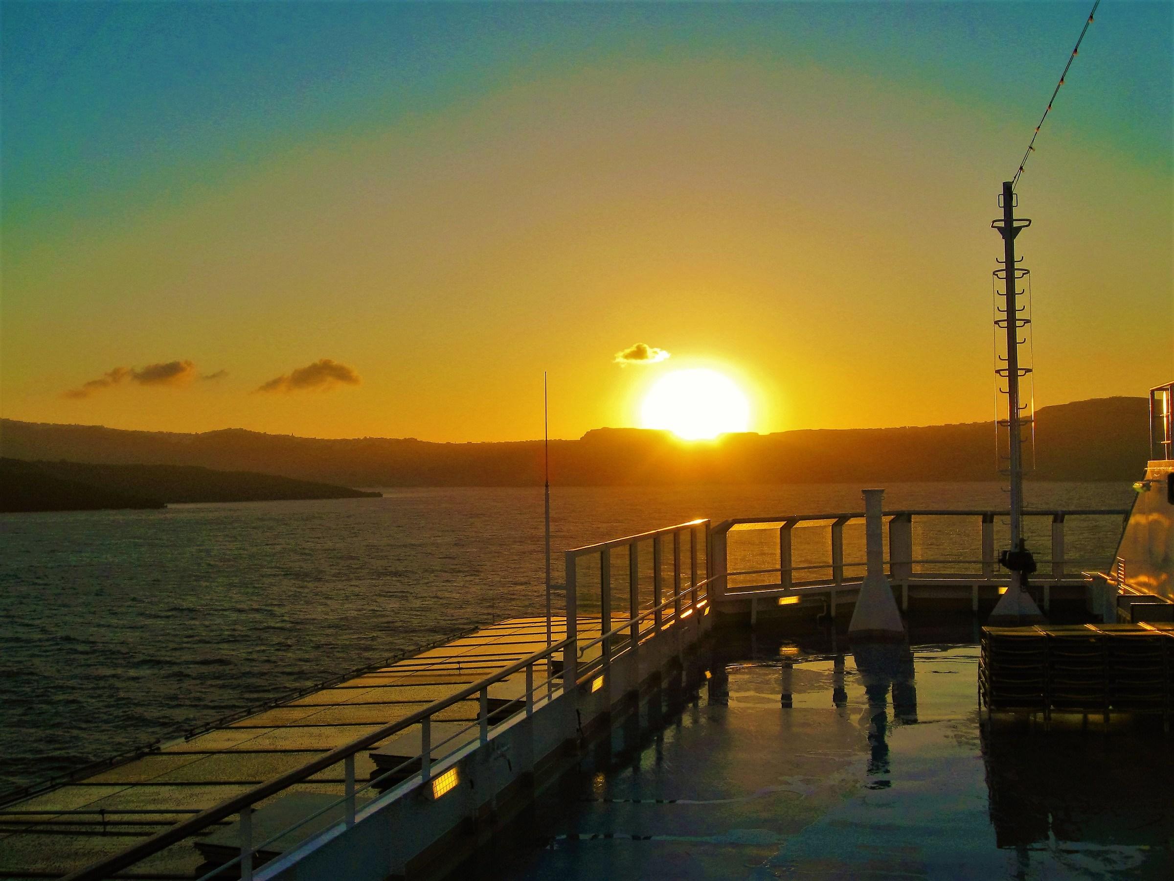 Birth of a new day in Santorini...