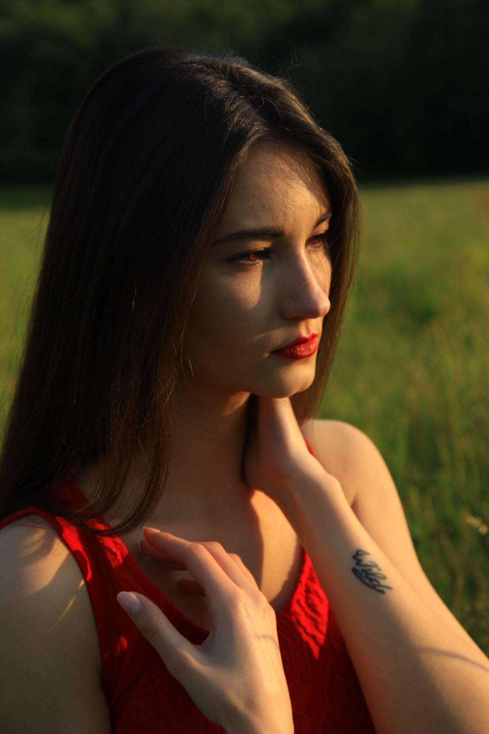 Red lipstick....