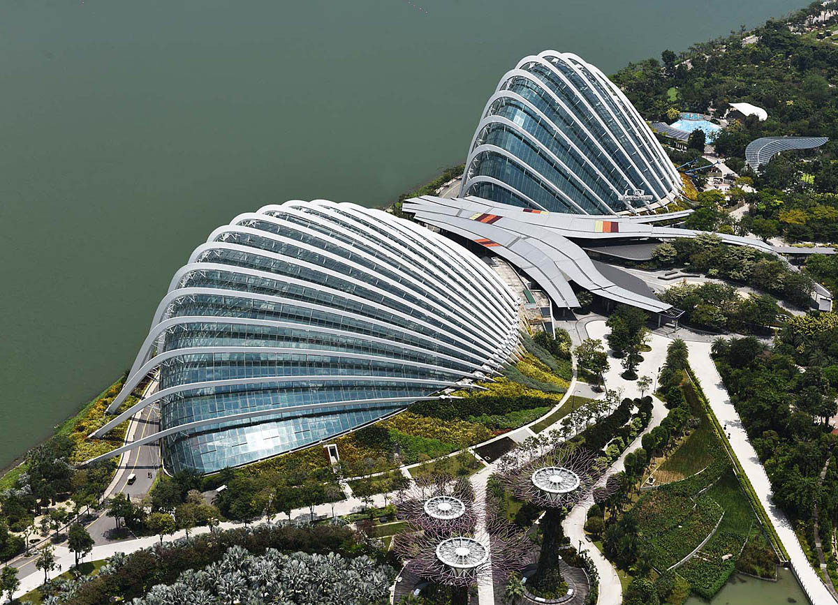 Flower Dome and Cloud Forest Singapore...