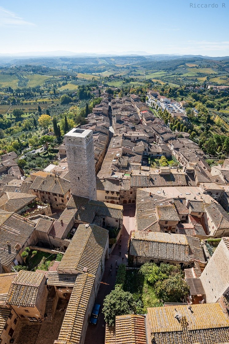 San Gimignano roof view...