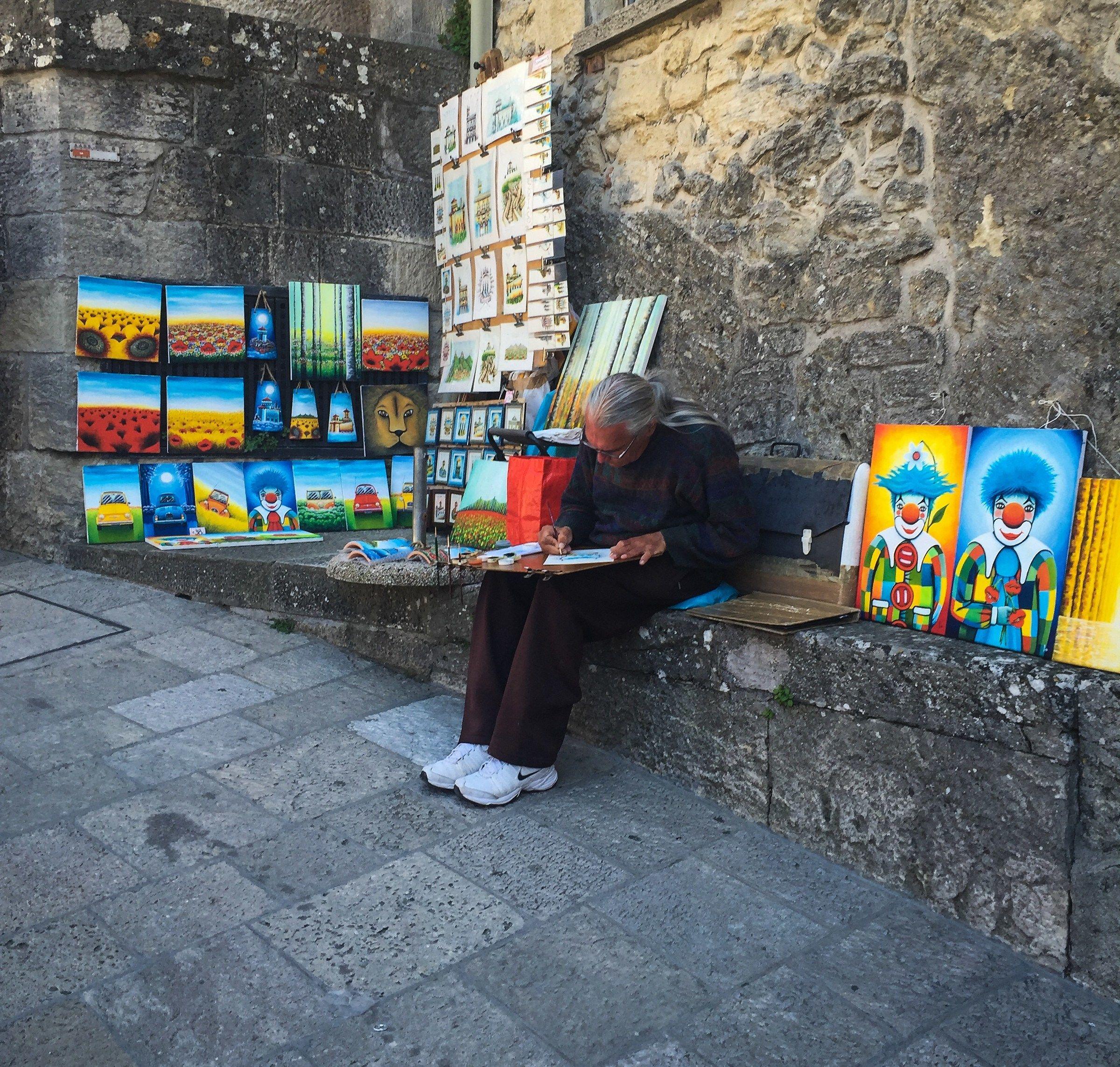 The street painter...