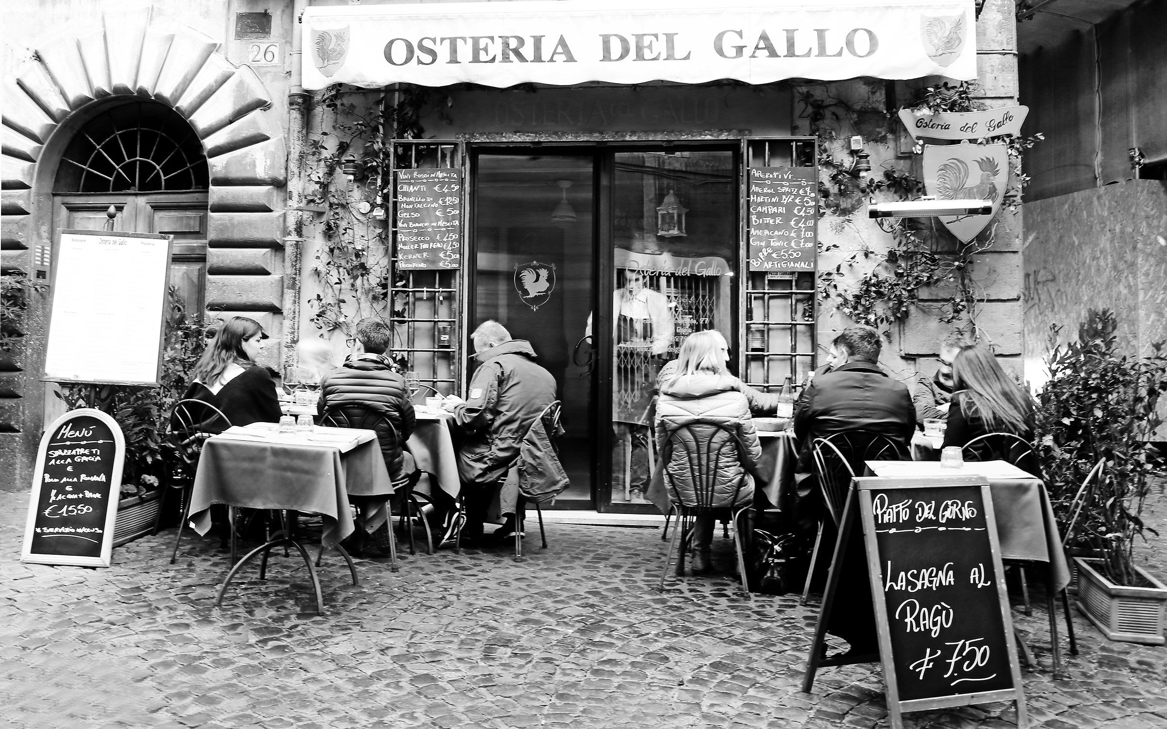 That old trattoria in the heart of Rome...