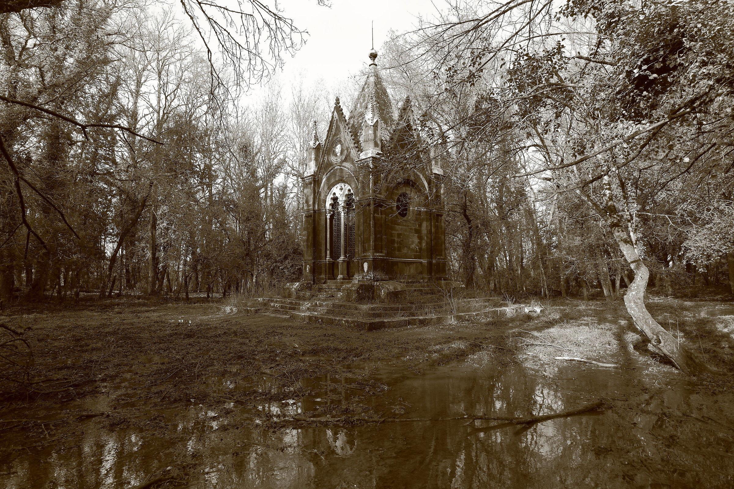 the mausoleum...