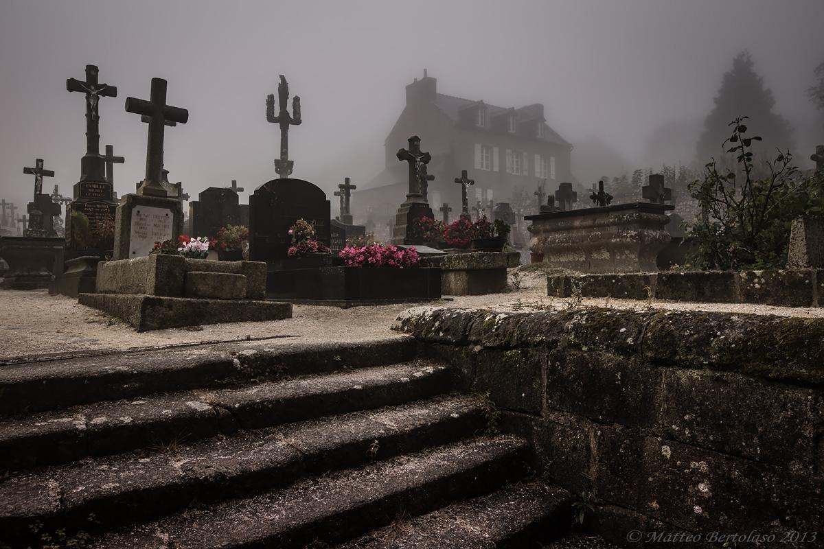 Crosses in Locronan...