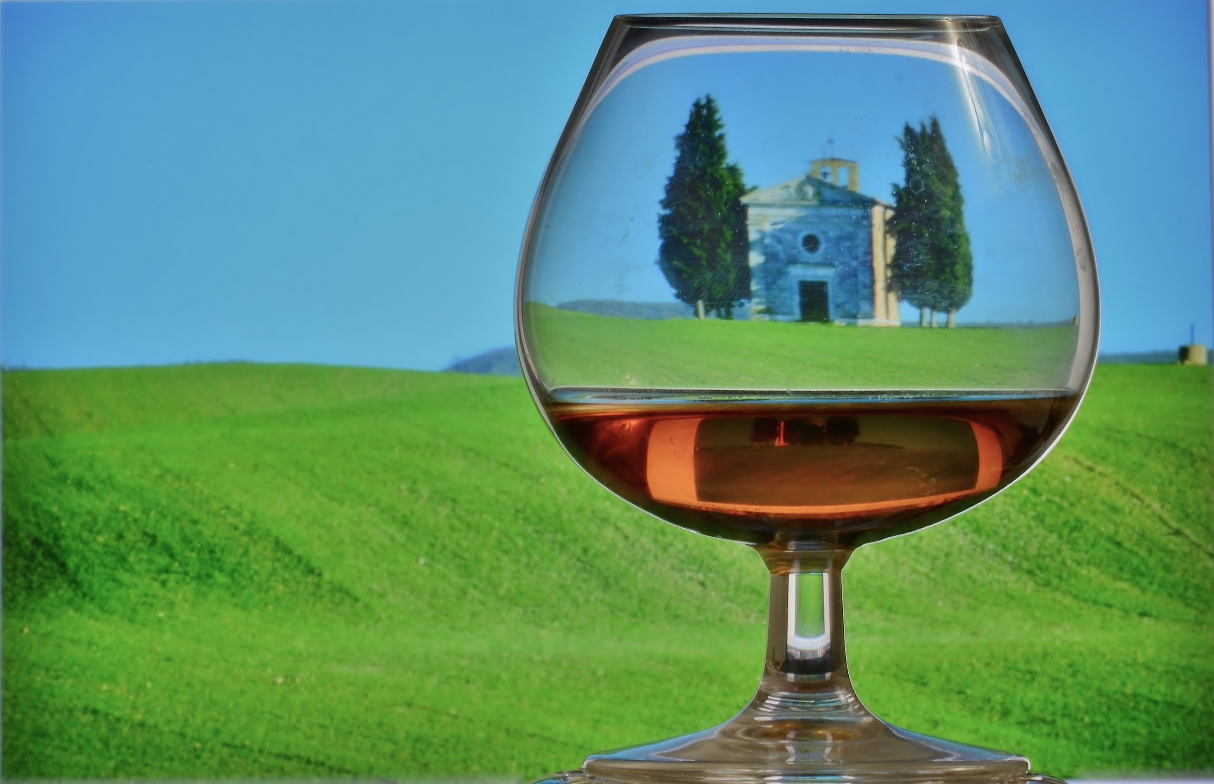 The sacred and the profane in a glass....