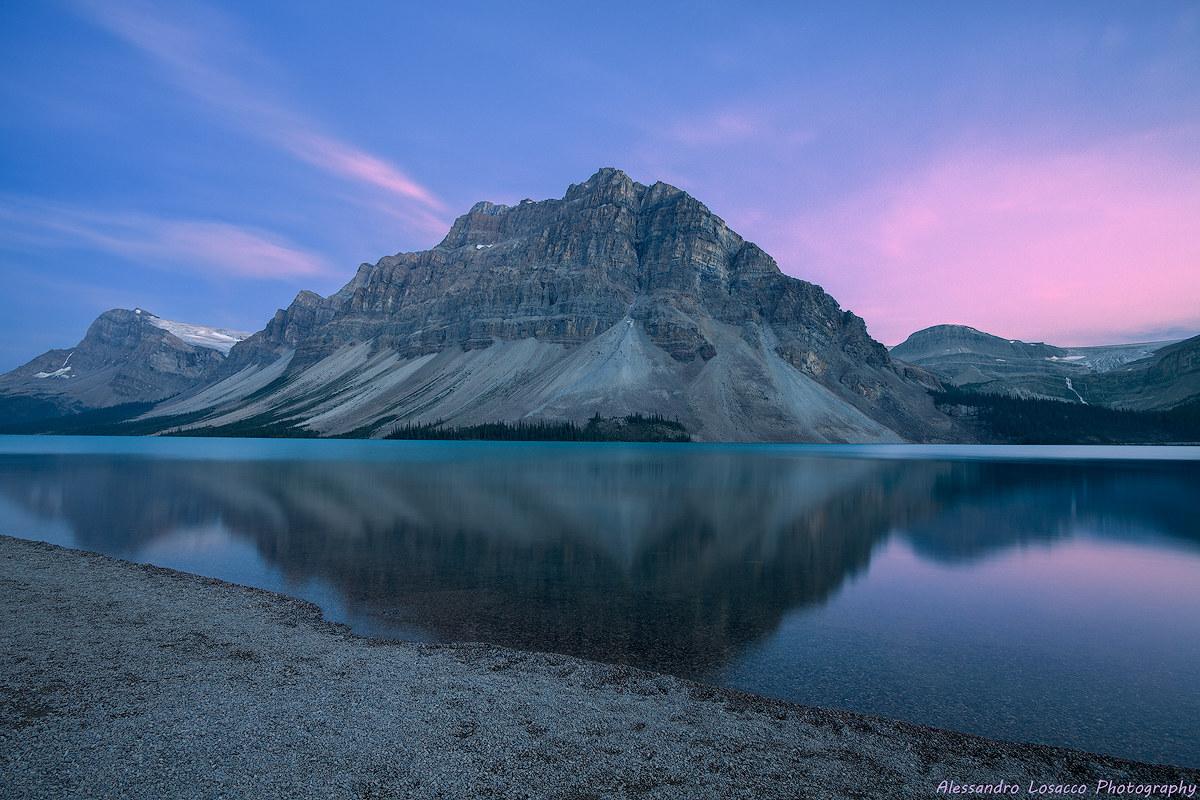 Bow Lake at sunset...