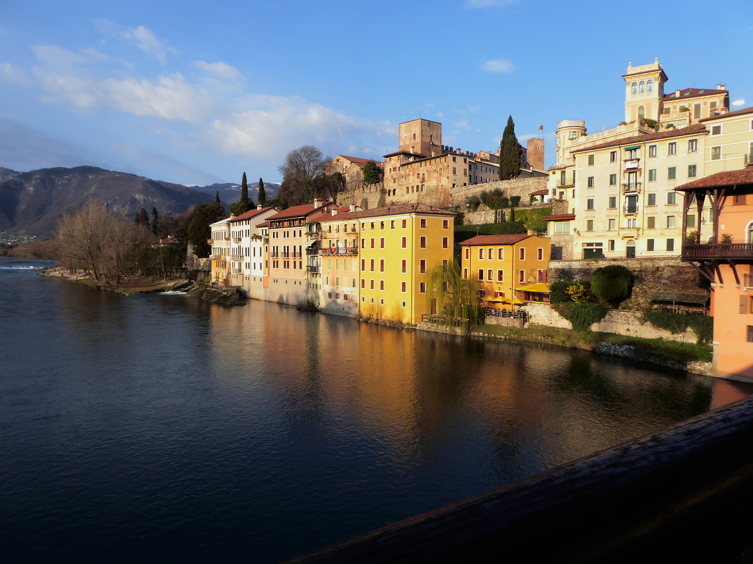 Bassano del Grappa..il Brenta River from the bridge of the Alp...