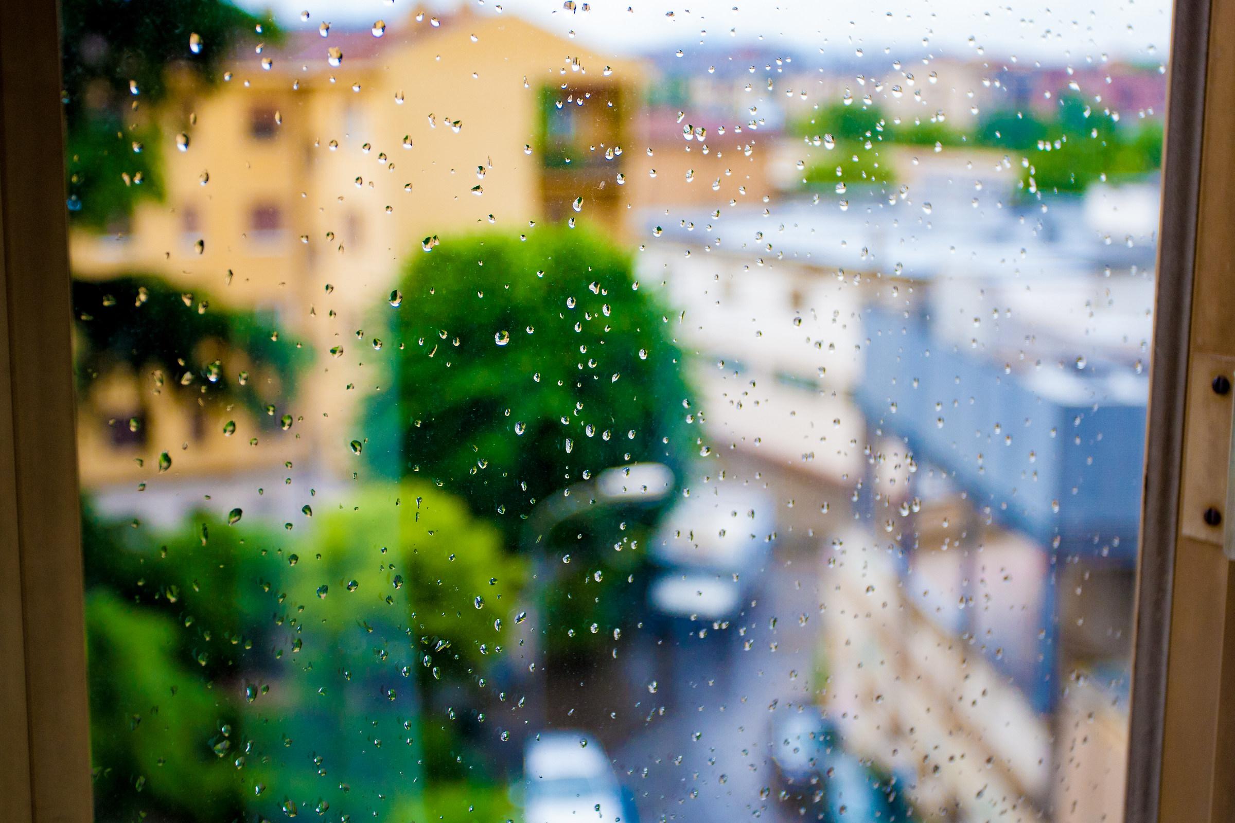 Gocce dalla finestra...