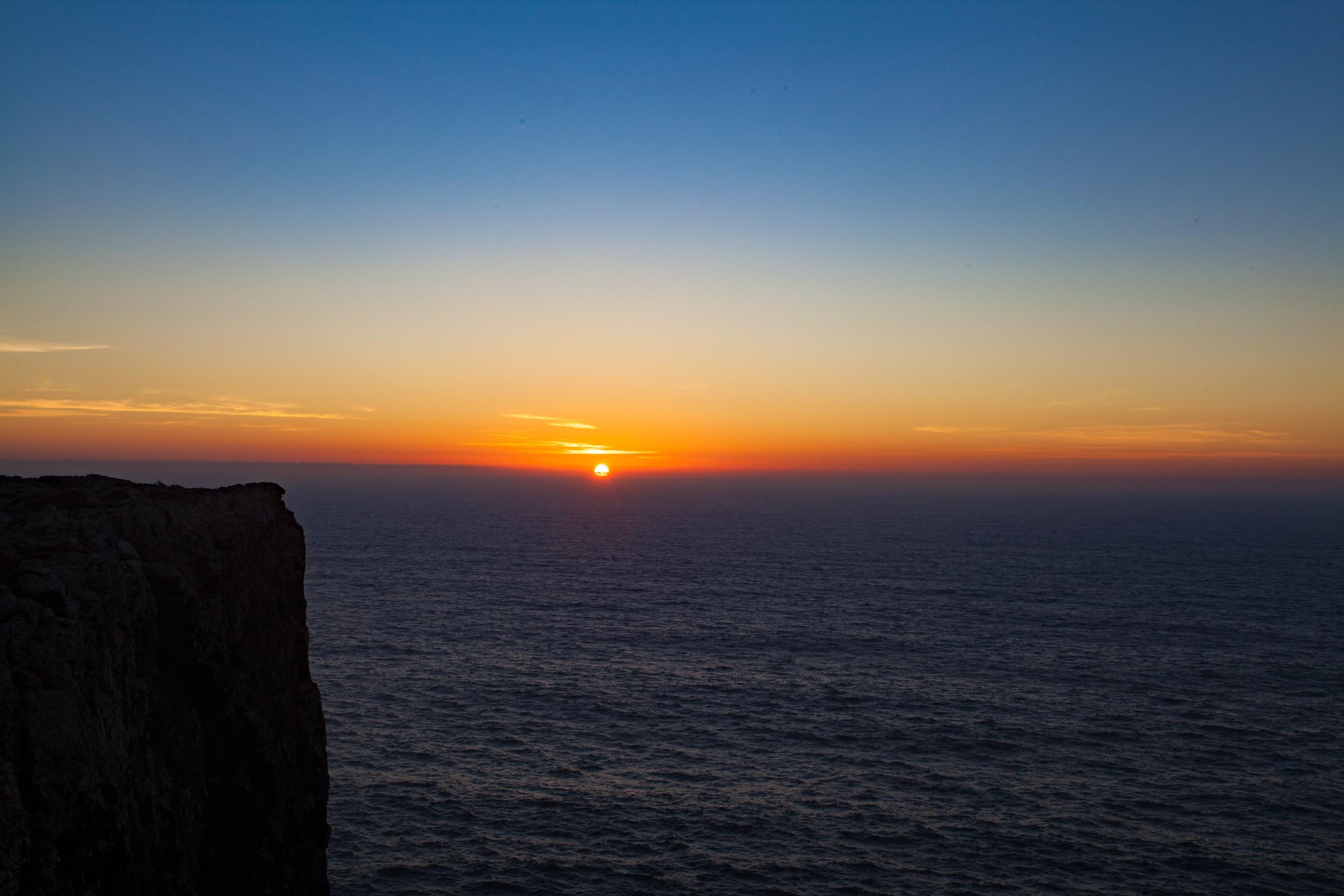 Secondo tramonto a Sagres...